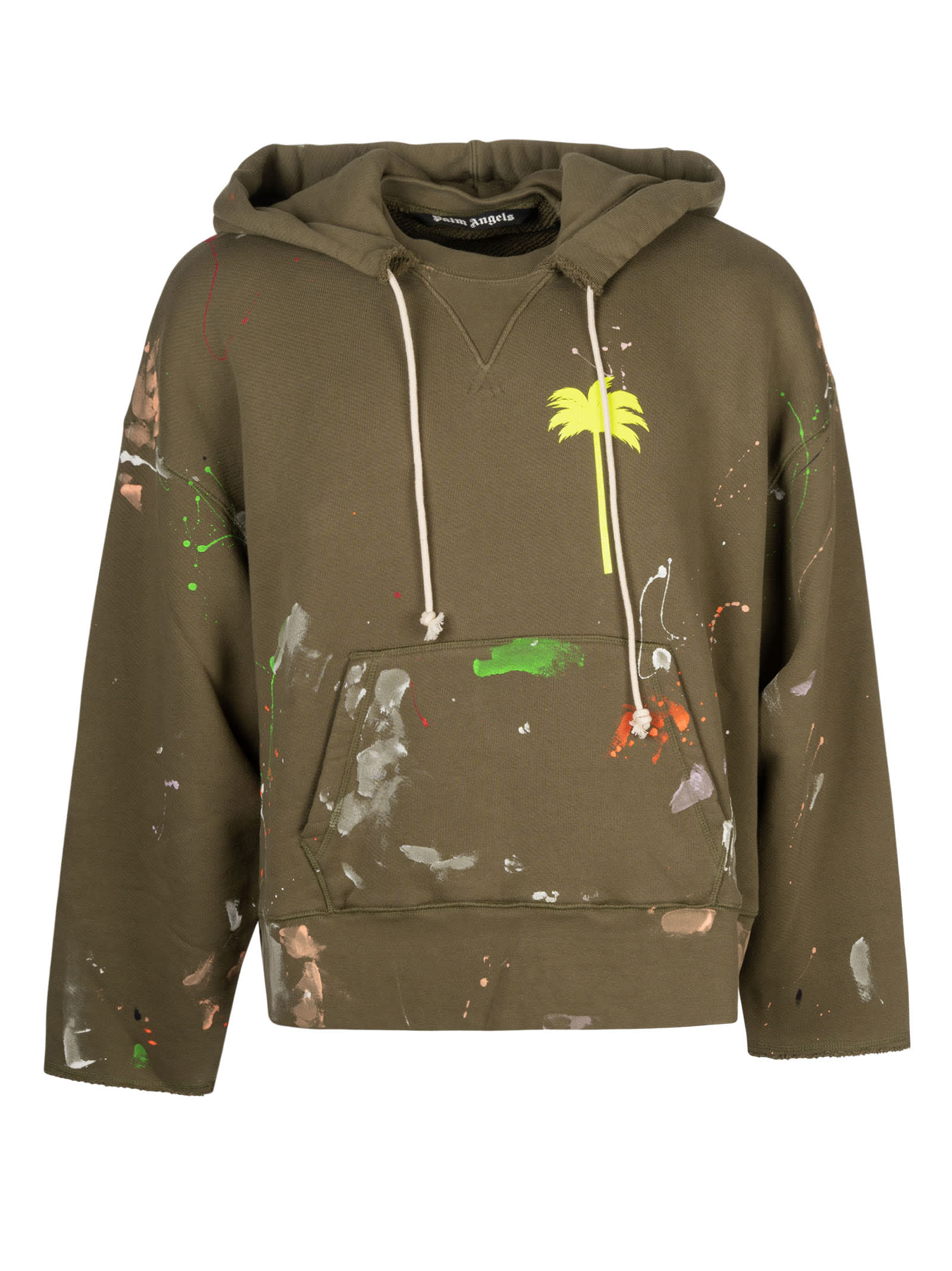Palm Angels Hoodies PXP PAINTED RAW CUT HOODIE