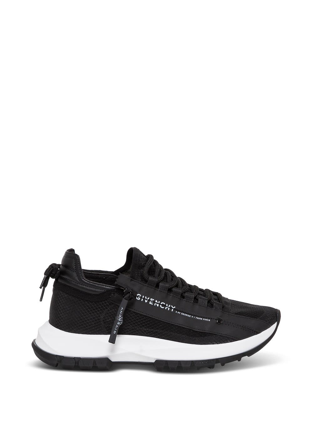 Givenchy SPECTER LOW LEATHER AND MESH SNEAKERS WITH ZIP