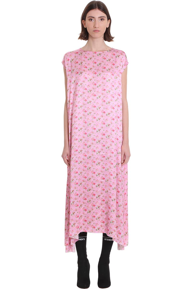 Buy VETEMENTS Dress In Rose-pink Viscose online, shop VETEMENTS with free shipping