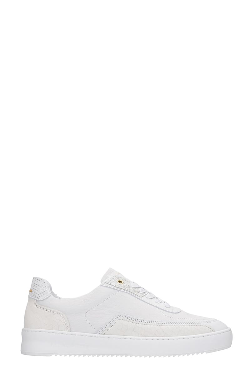 Mondo Ripple Sneakers In White Leather