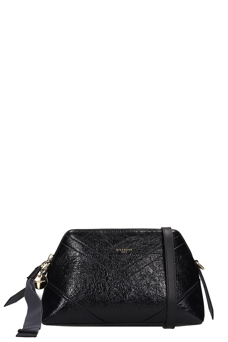 Givenchy Id Xbody Shoulder Bag In Black Leather