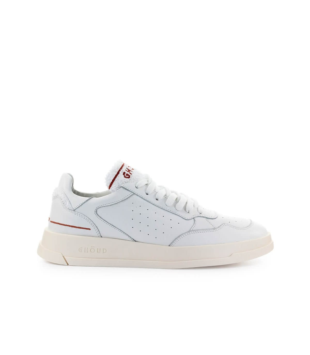Ghoud GHOUD WHITE LEATHER TERRY SNEAKER