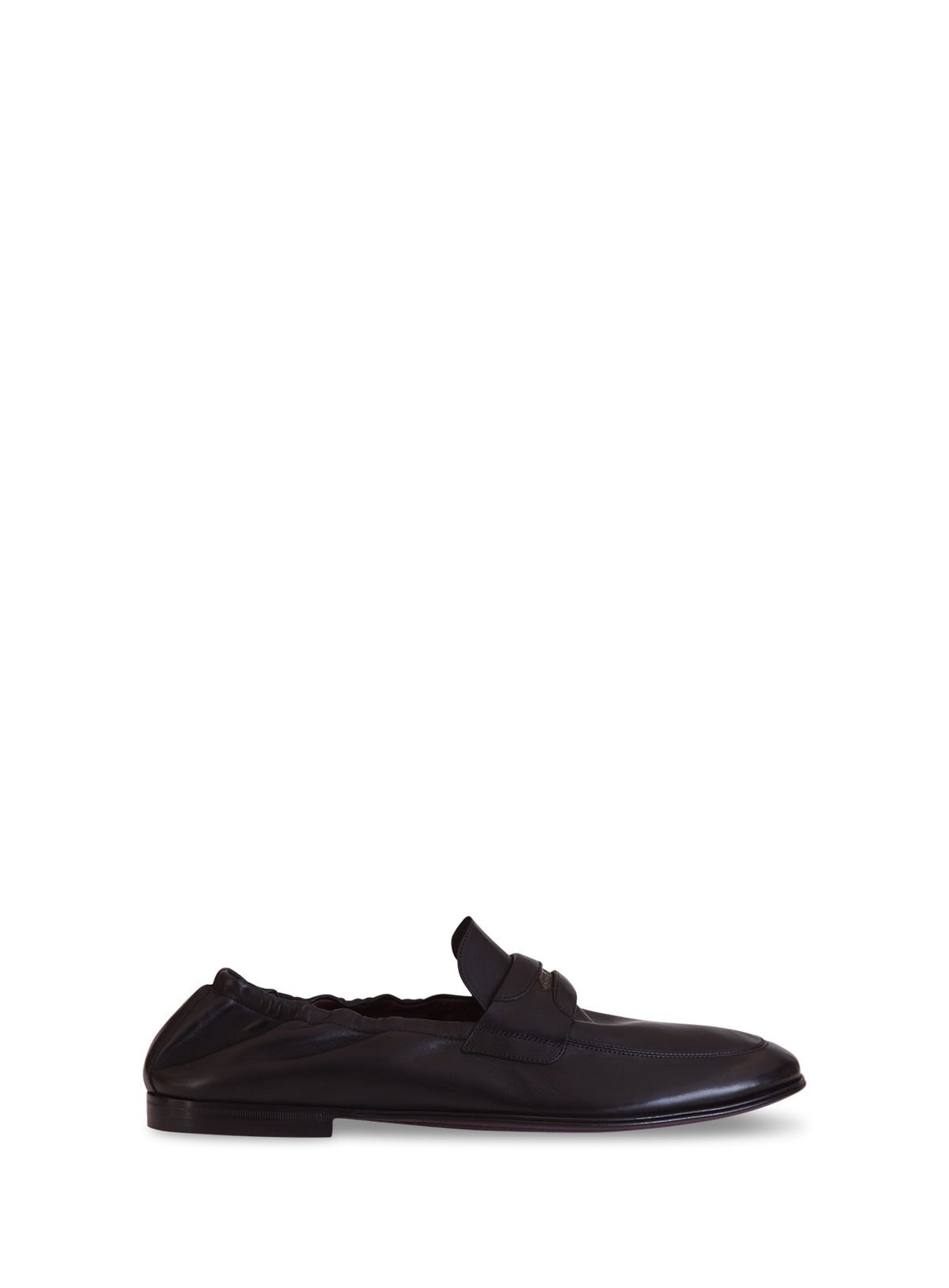 Dolce & Gabbana LOGO-EMBOSSED LEATHER SLIPPERS