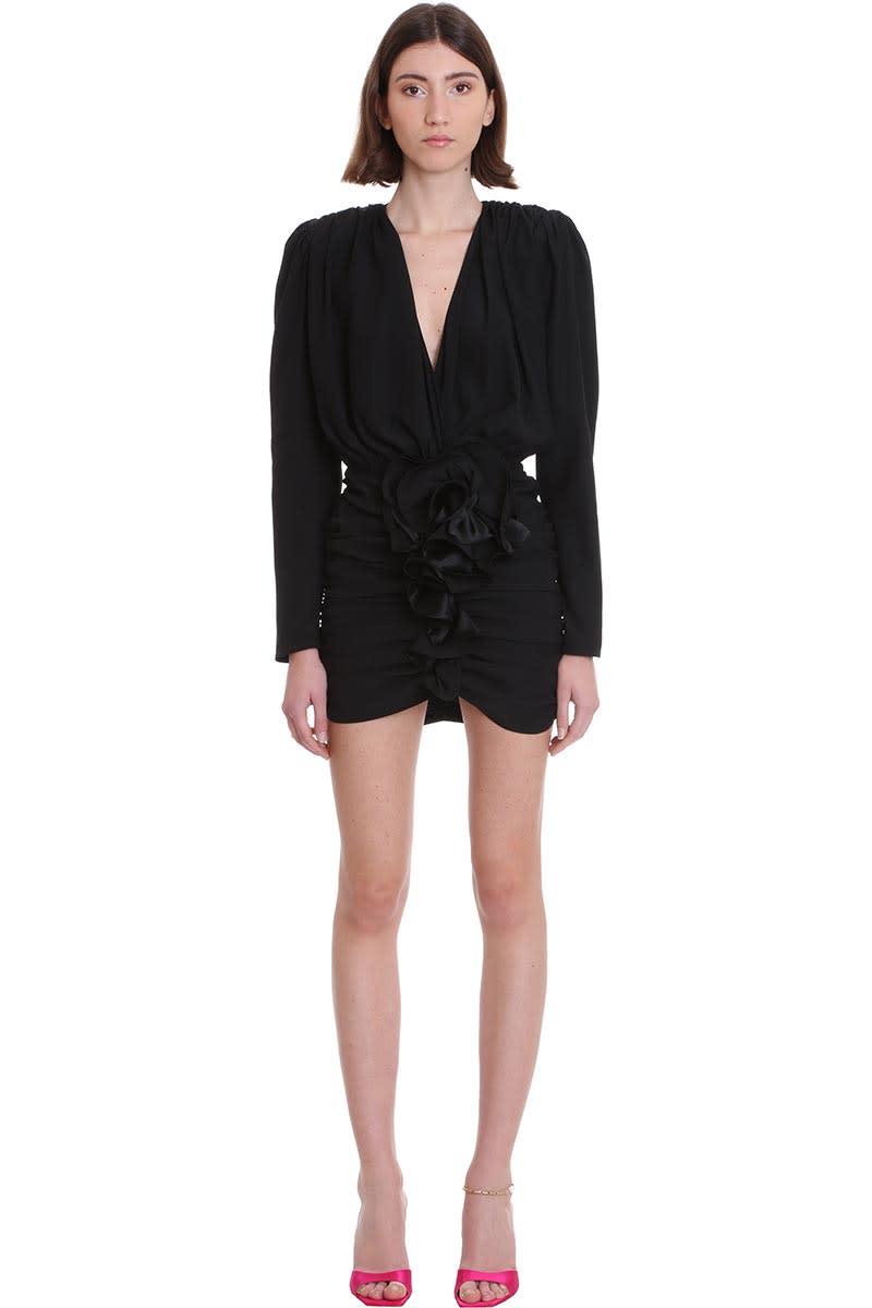 Buy Magda Butrym Burgos Dress In Black Silk online, shop Magda Butrym with free shipping