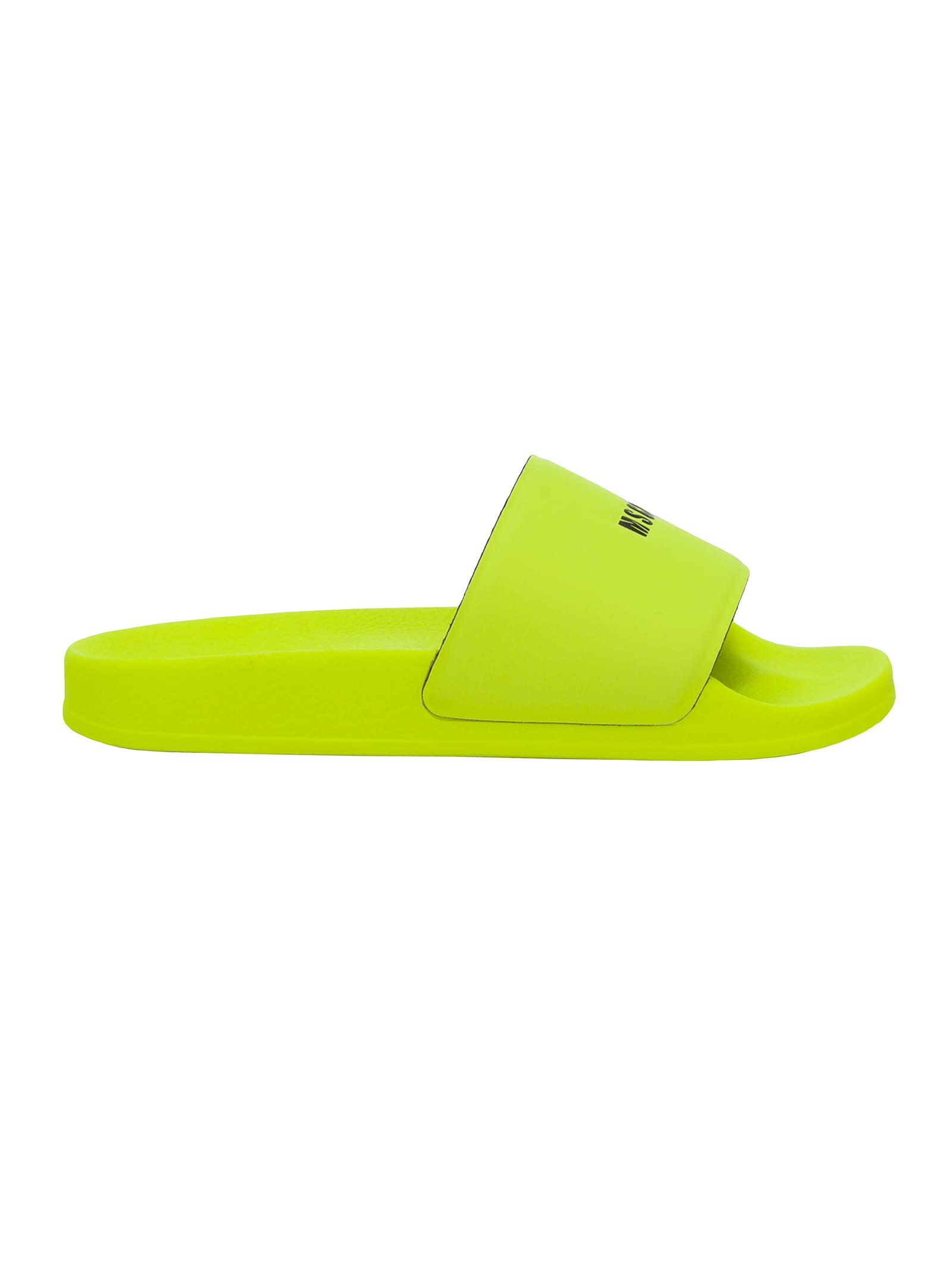 Msgm MSGM RUBBER SLIDERS WITH MICRO LOGO