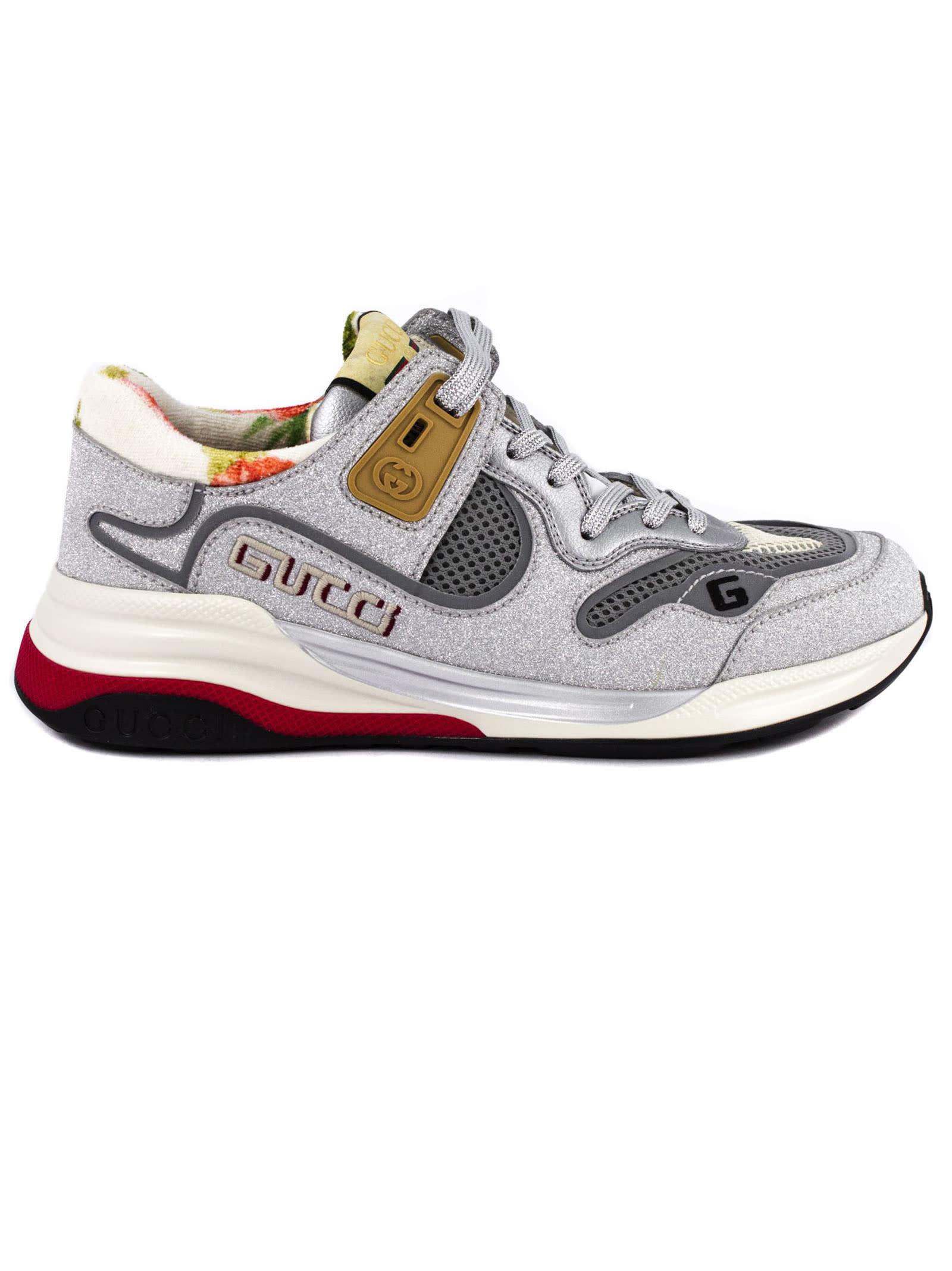 Gucci Gucci Silver Sneaker Ultrapace