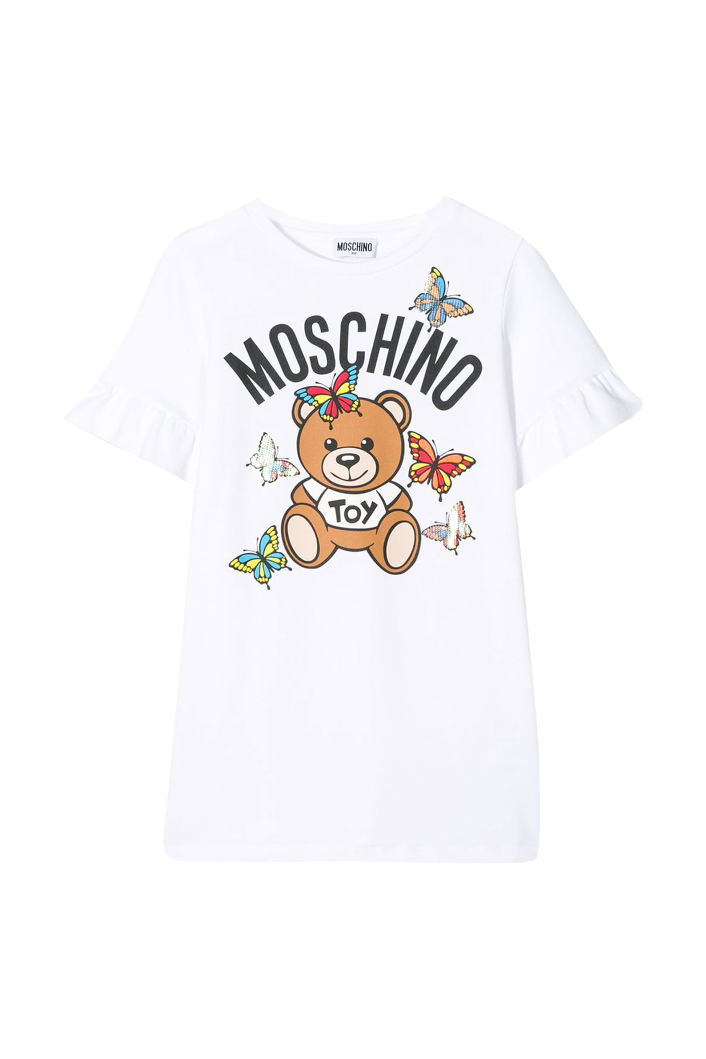 Buy Moschino Kids Teddy Print Dress online, shop Moschino with free shipping