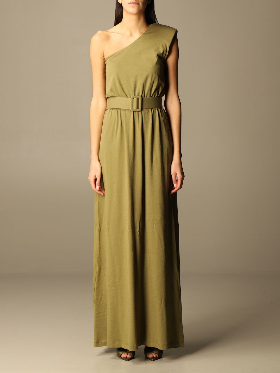 Federica Tosi Dress Federica Tosi Long Dress In Cotton With One Shoulder