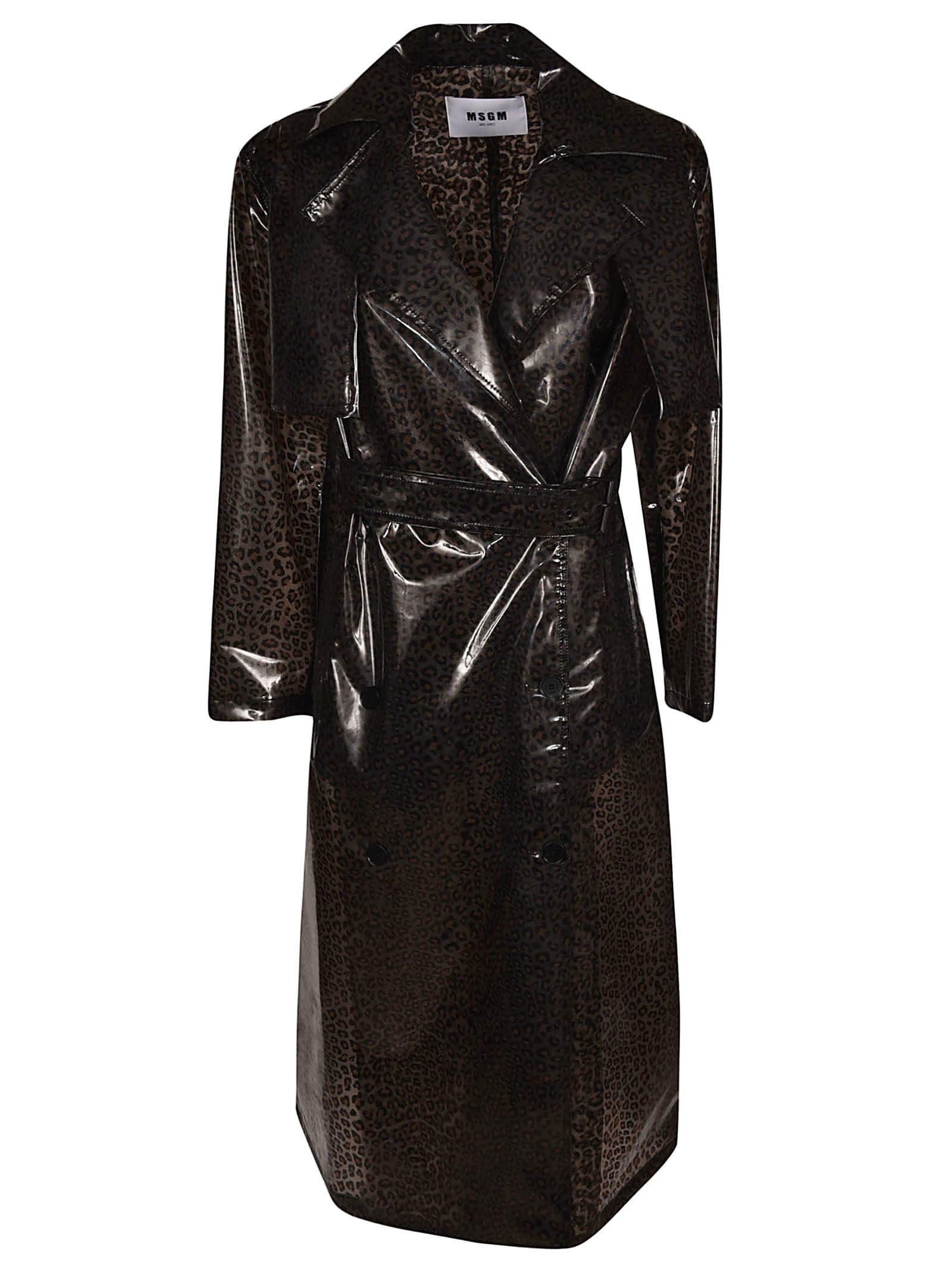 MSGM Leopard Coat