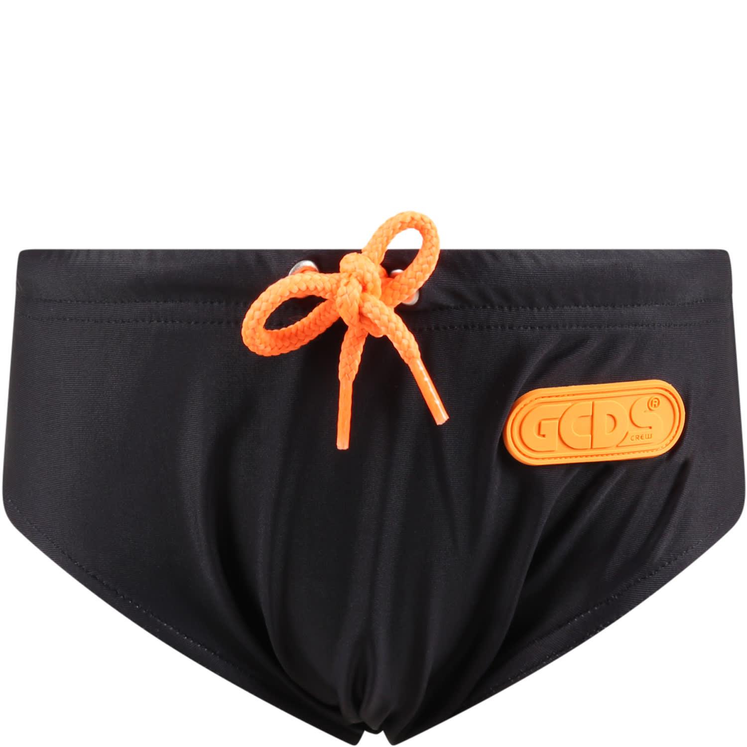 Black Swimsuit For Boy With Logo