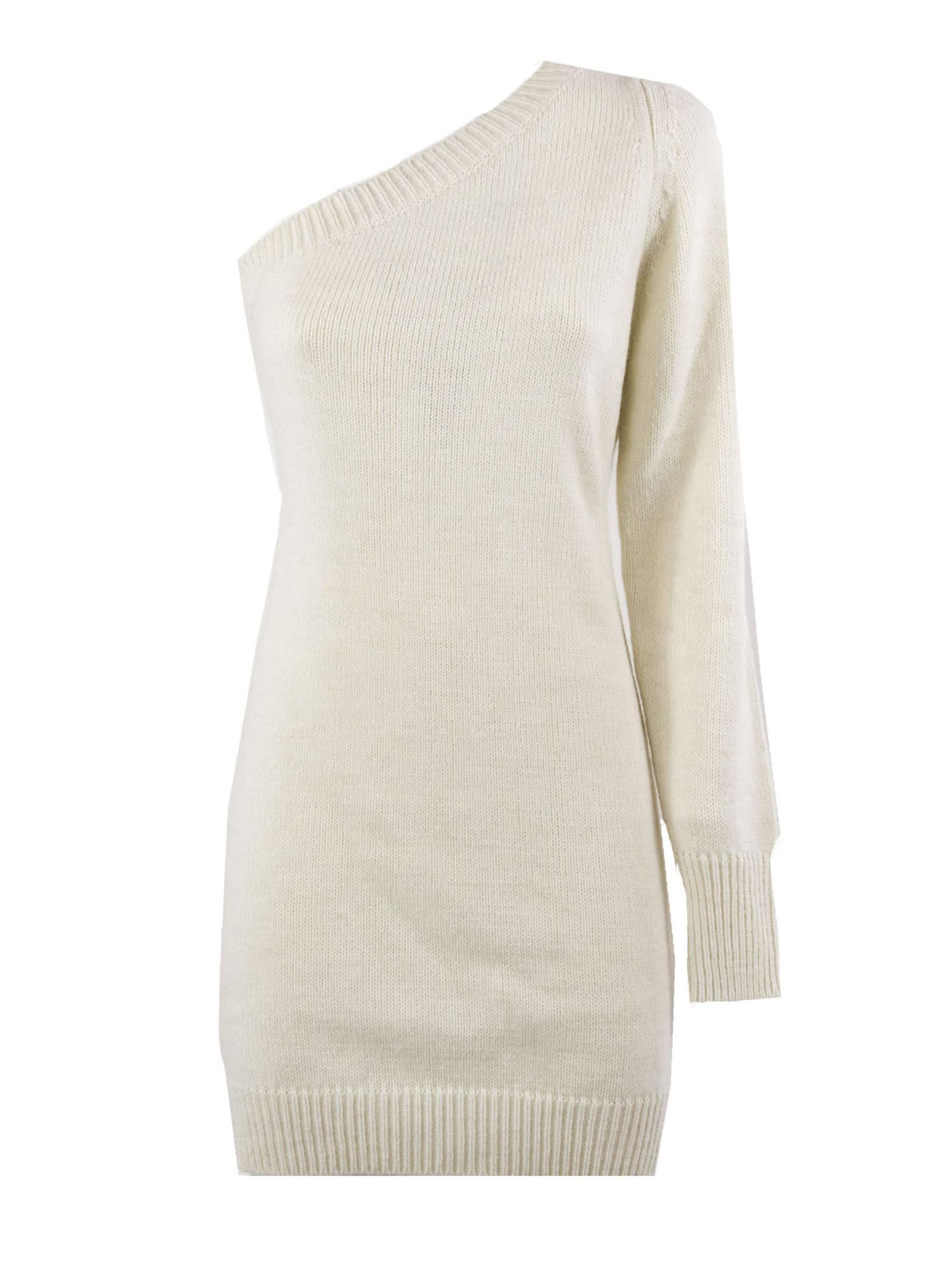 Federica Tosi White Wool And Alpaca Blend Dress