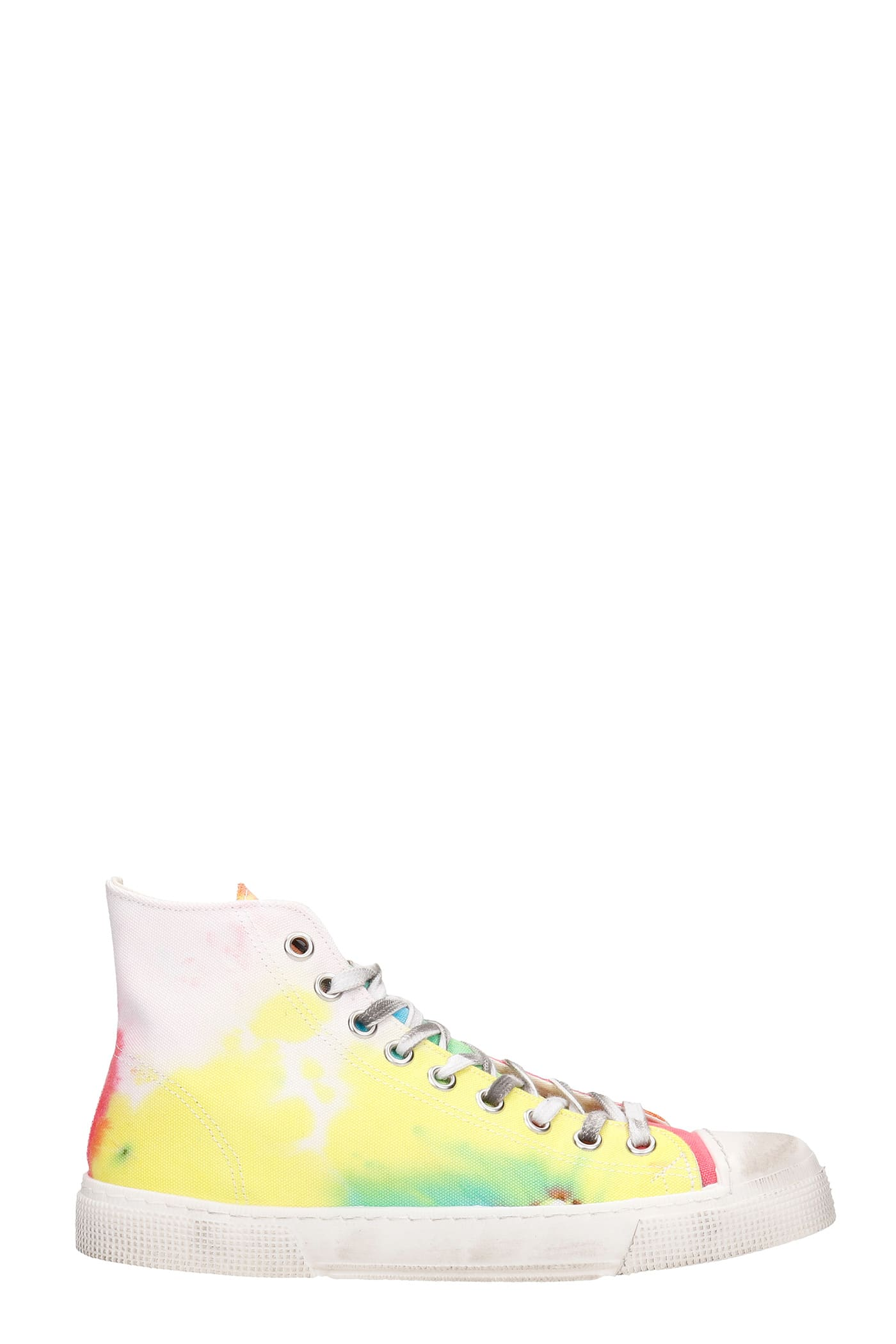 J.m High Sneakers In Multicolor Canvas