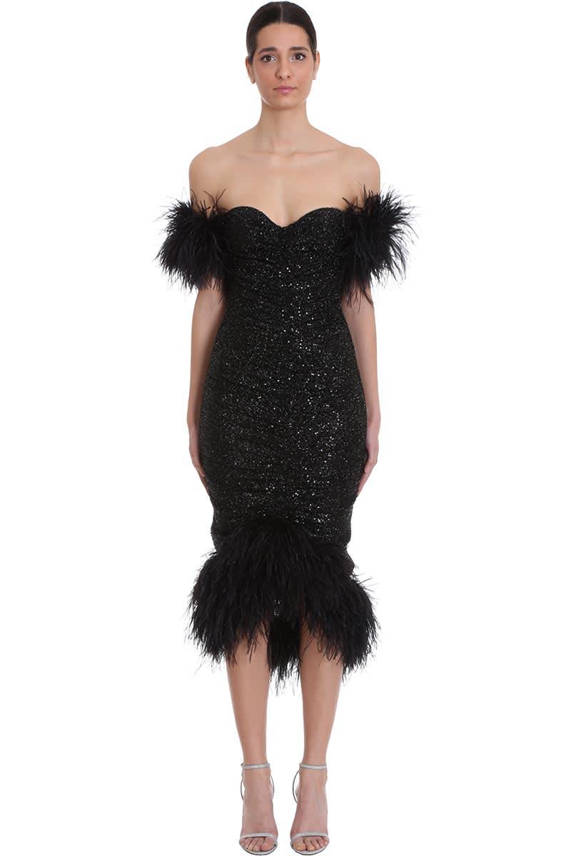 Buy Nervi Luna Dress In Black Polyester online, shop Nervi with free shipping