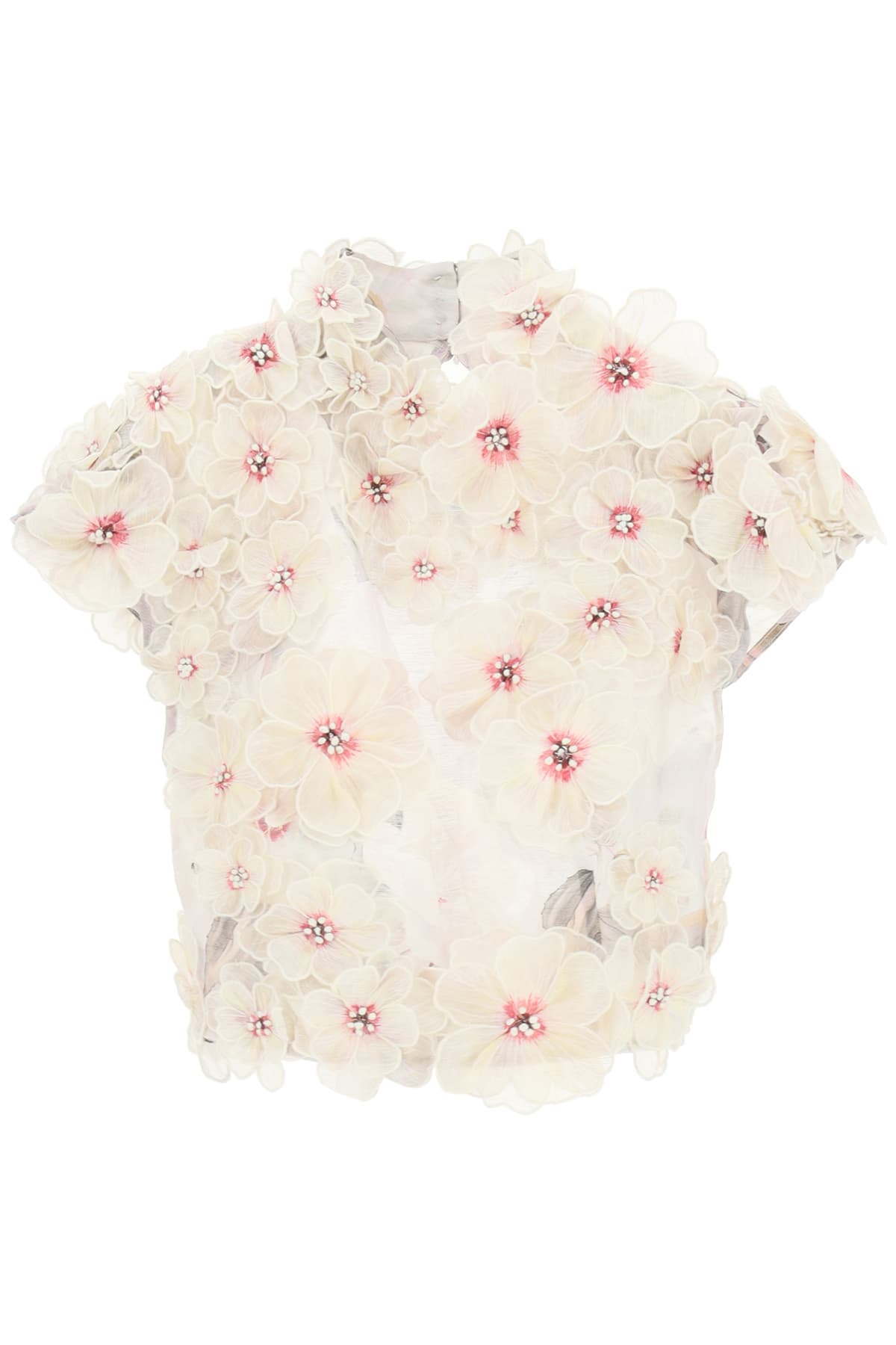 Zimmermann BOTANICA TOP WITH FLOWER APPLIQUES