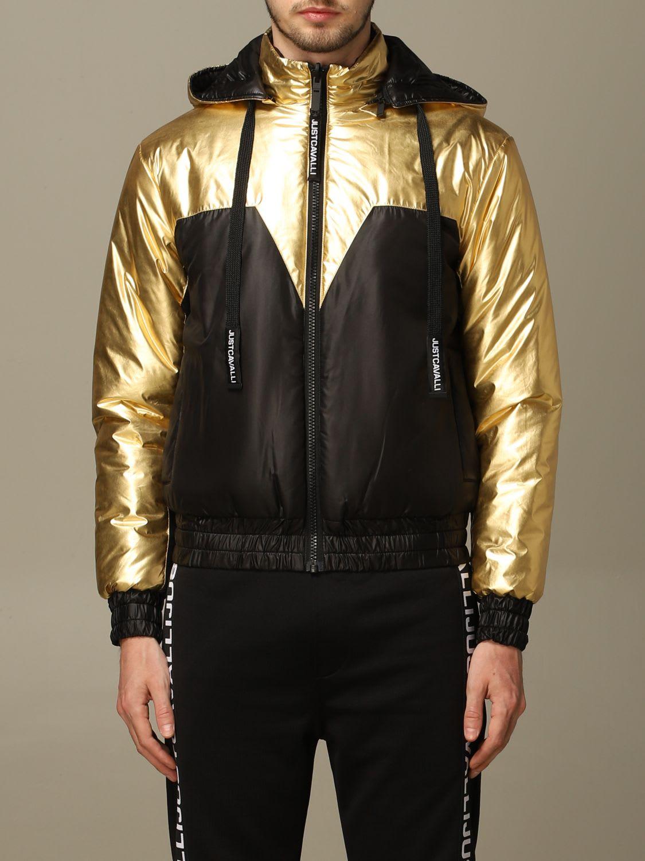 Just Cavalli Jacket Just Cavalli Bomber Jacket In Reversible Nylon With Hood