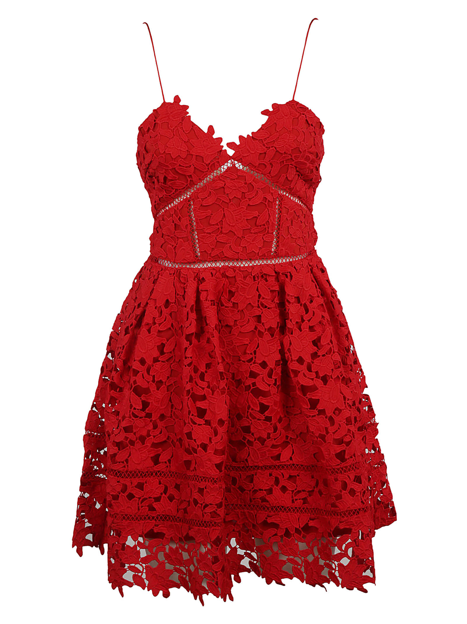 self-portrait Mini Azalea Guipure Lace Dress