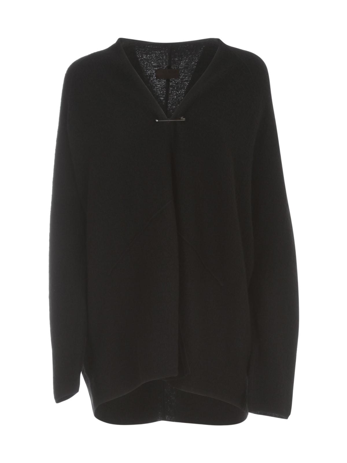 Oyuna Knitted Cashmere Oversized Boucle Cardigan