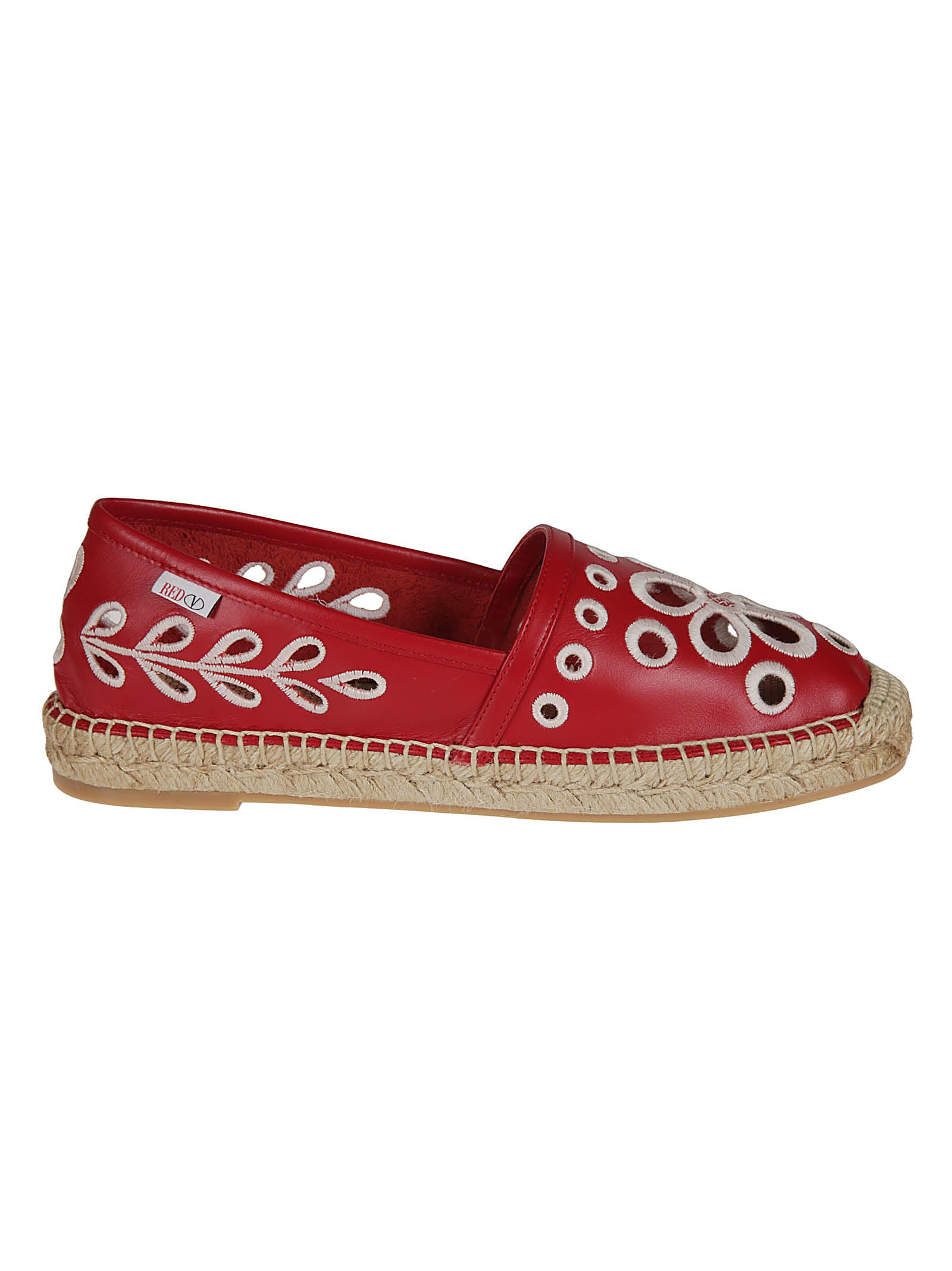 Red Valentino FLORAL PERFORATED ESPADRILLAS