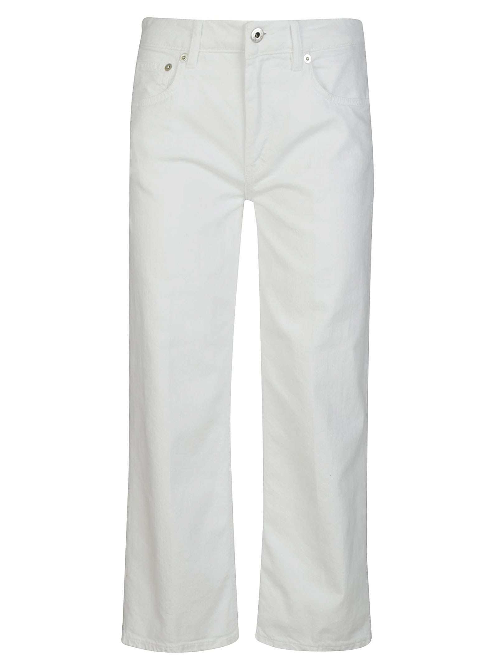 Dondup Classic Straight Jeans In Bianco