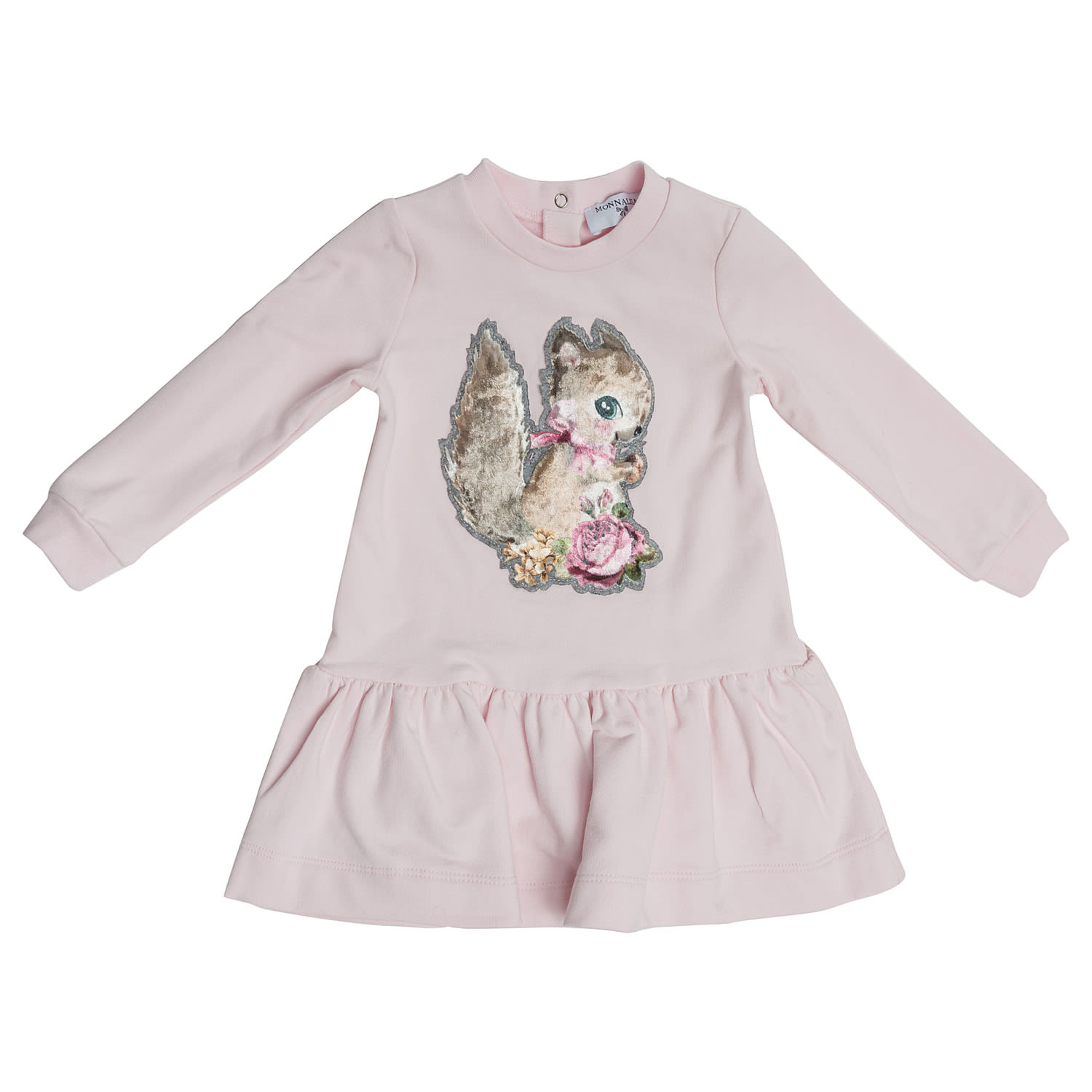 Monnalisa Squirrel Embroidered Dress