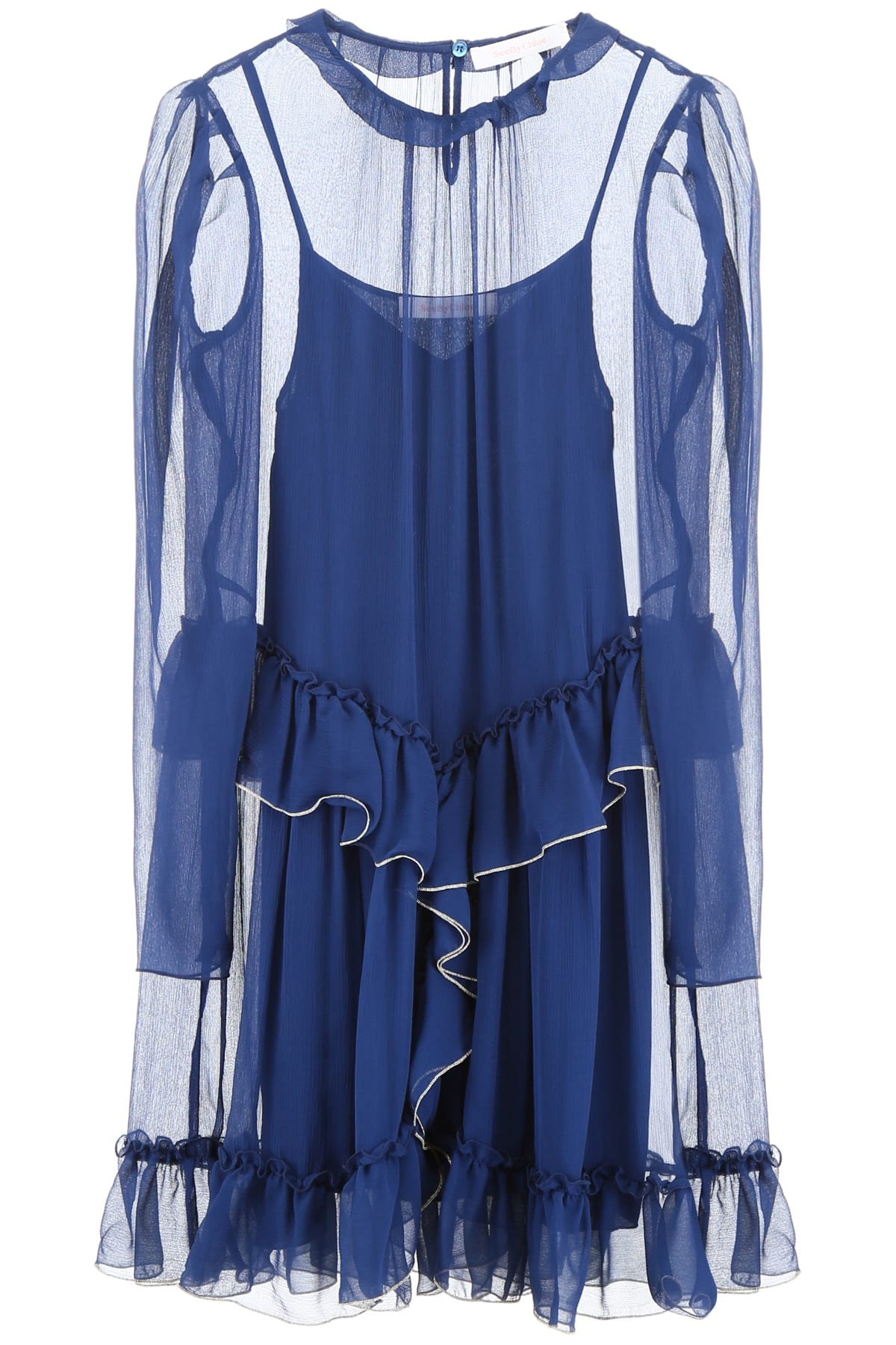 Buy See by Chloé Ruffled Dress online, shop See by Chloé with free shipping