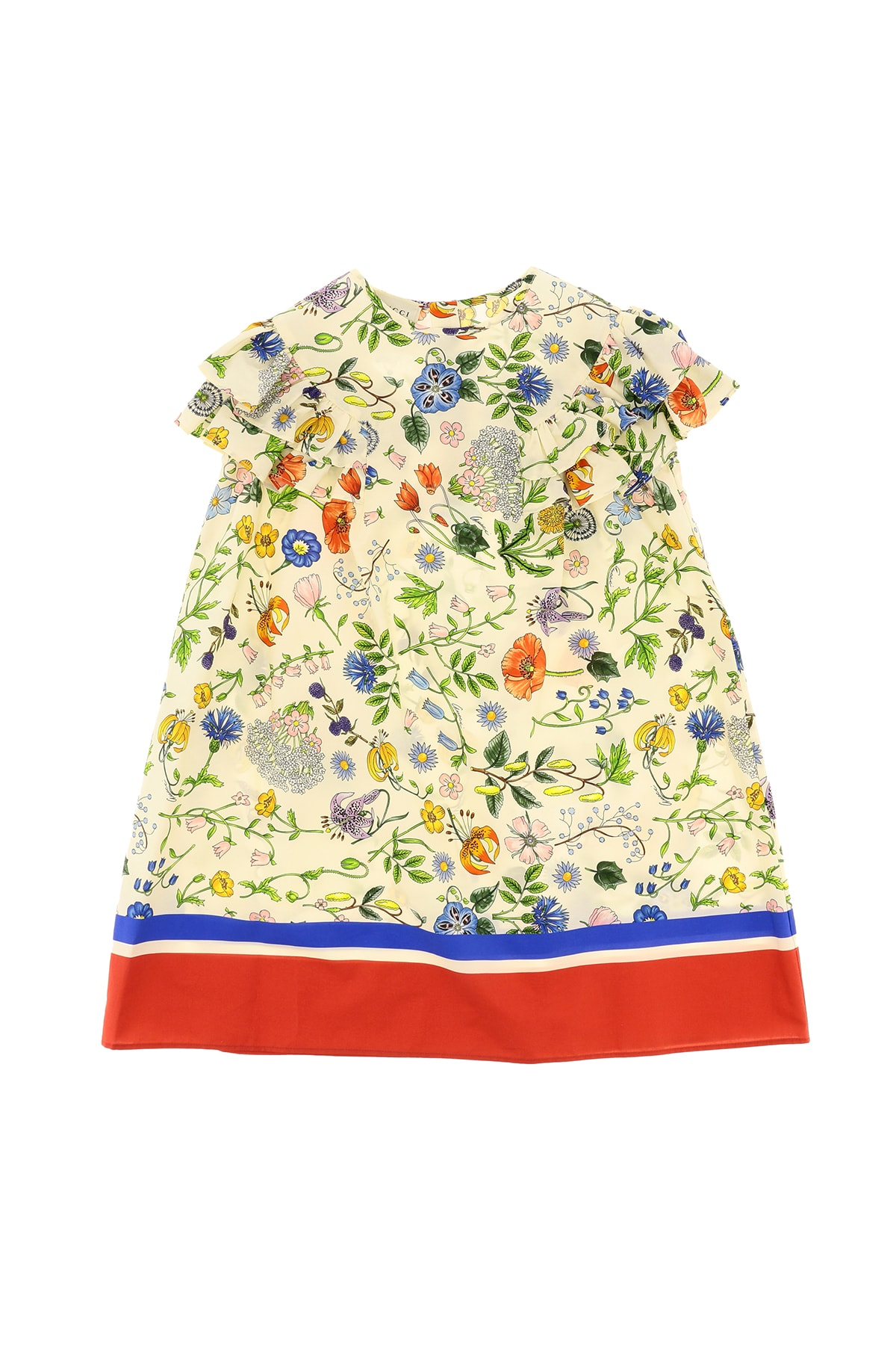 Buy Gucci Dress With Flora Festival Print online, shop Gucci with free shipping