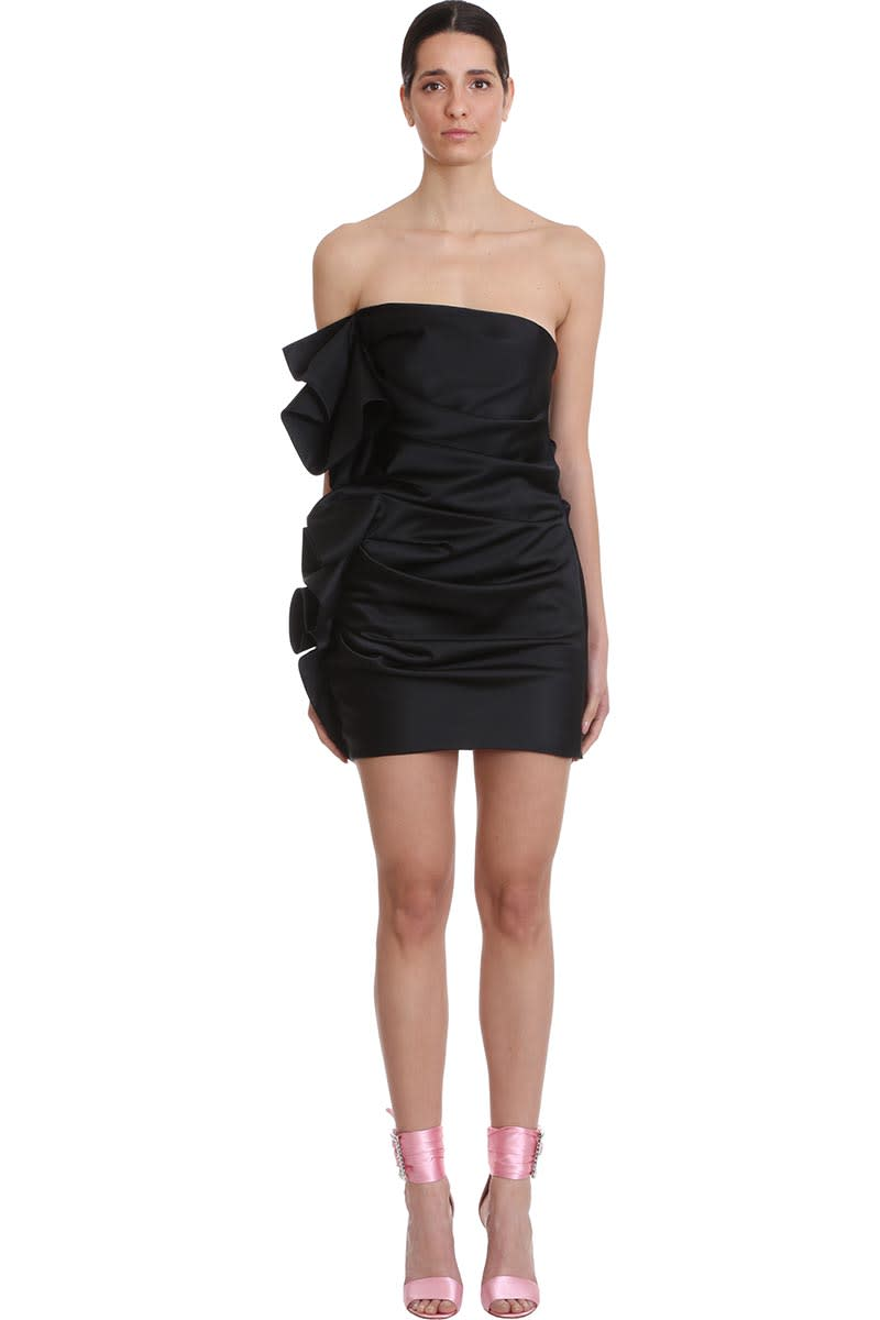 Buy Alexandre Vauthier Dress In Black Polyester online, shop Alexandre Vauthier with free shipping