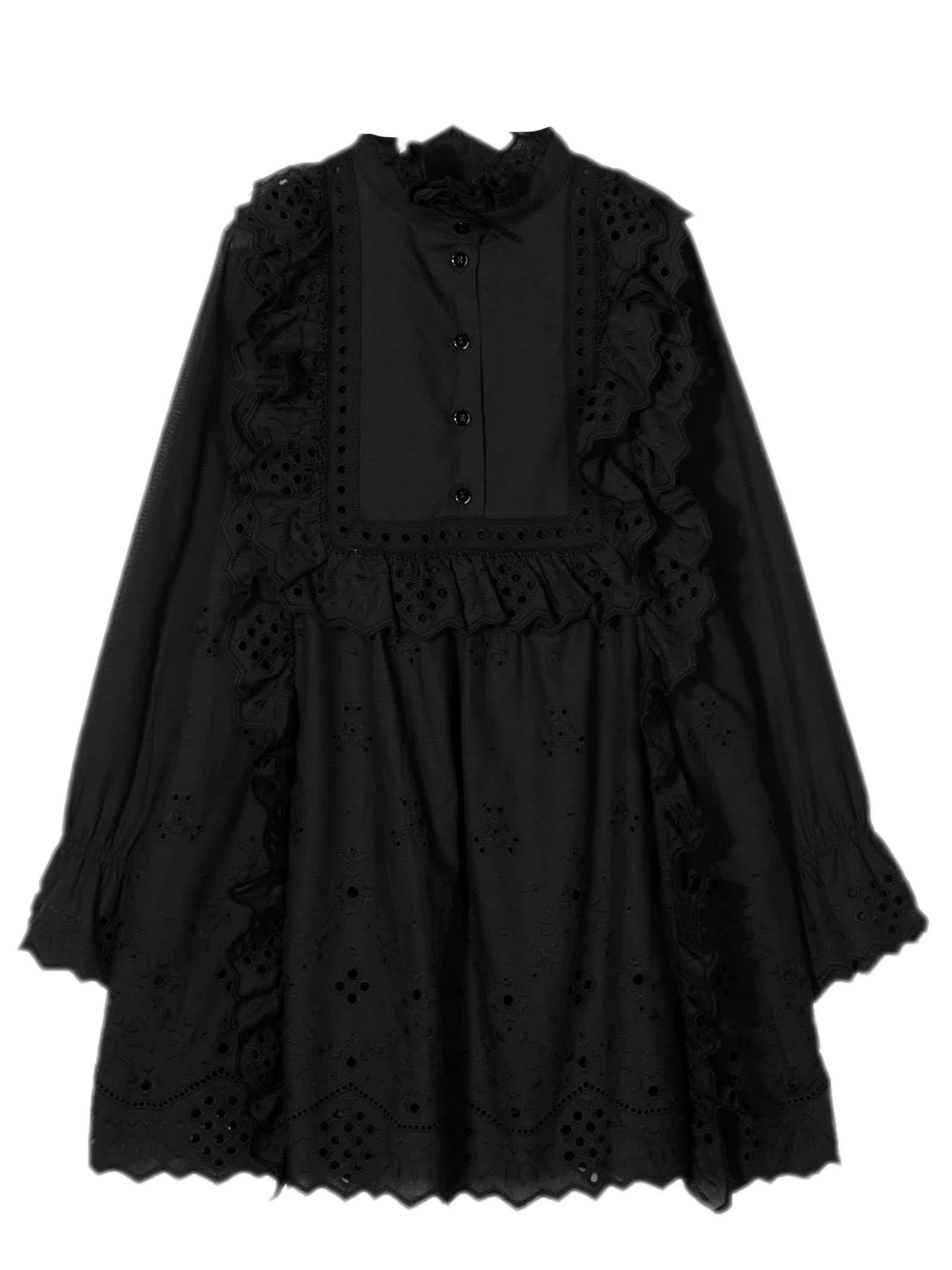 Buy Alberta Ferretti Black Cotton Shift Dress online, shop Alberta Ferretti with free shipping