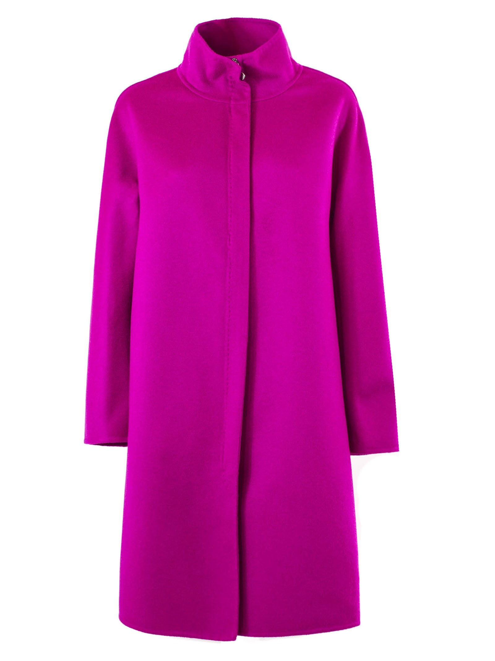 Fabiana Filippi Wool And Cashmere Fuchsia Coat