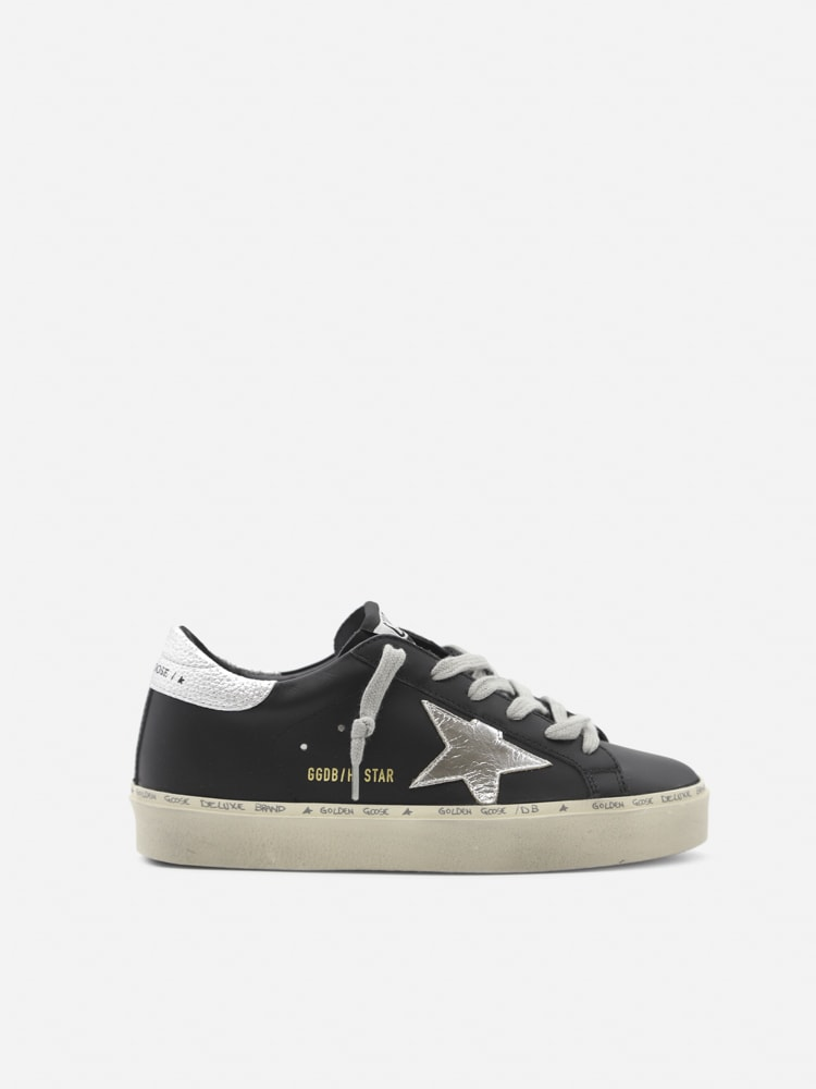 Golden Goose Hi Star Sneakers In Leather With Contrasting Inserts
