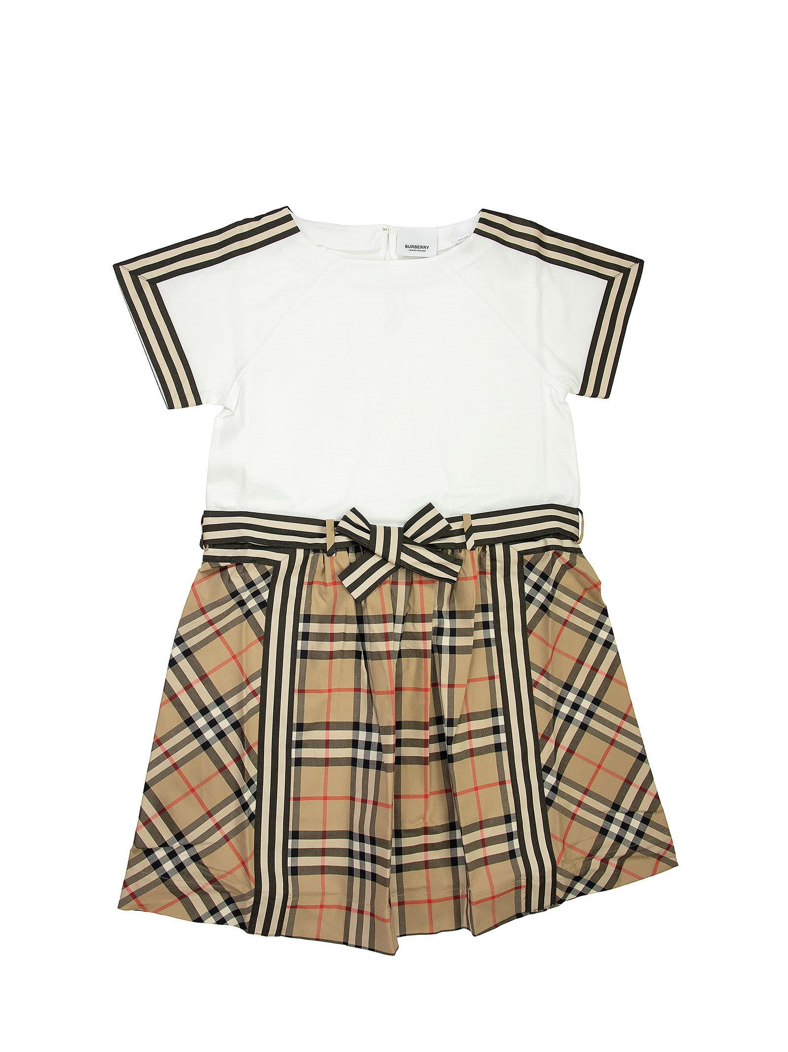 Burberry Raglan Rhonda - Vintage Check Detail Cotton Dress