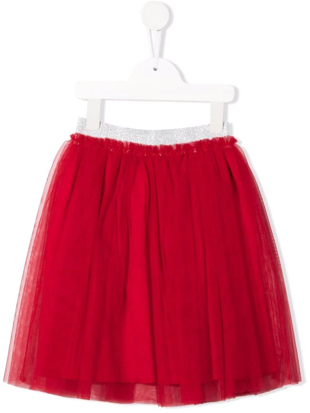 Kids Skirt In Red Tulle