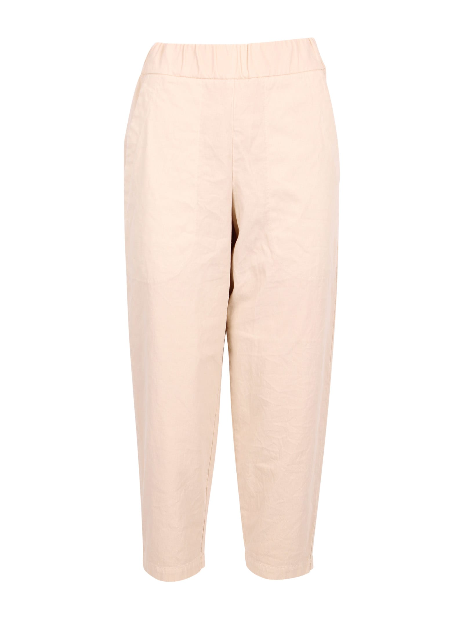 Barena Venezia Joie Mante Cotton Trousers In Ivory