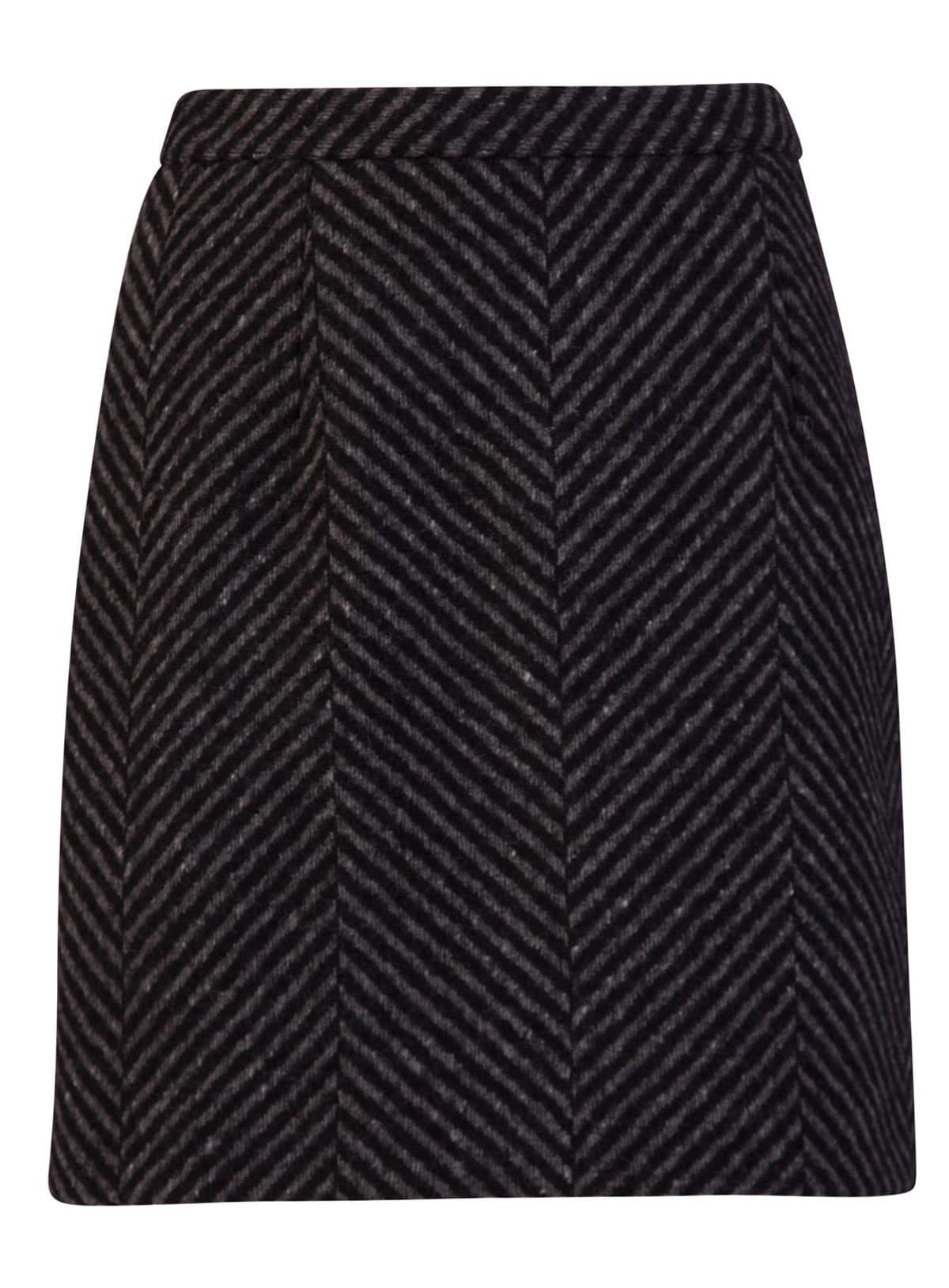 Off-white Chevron Tailored Mini Skirt
