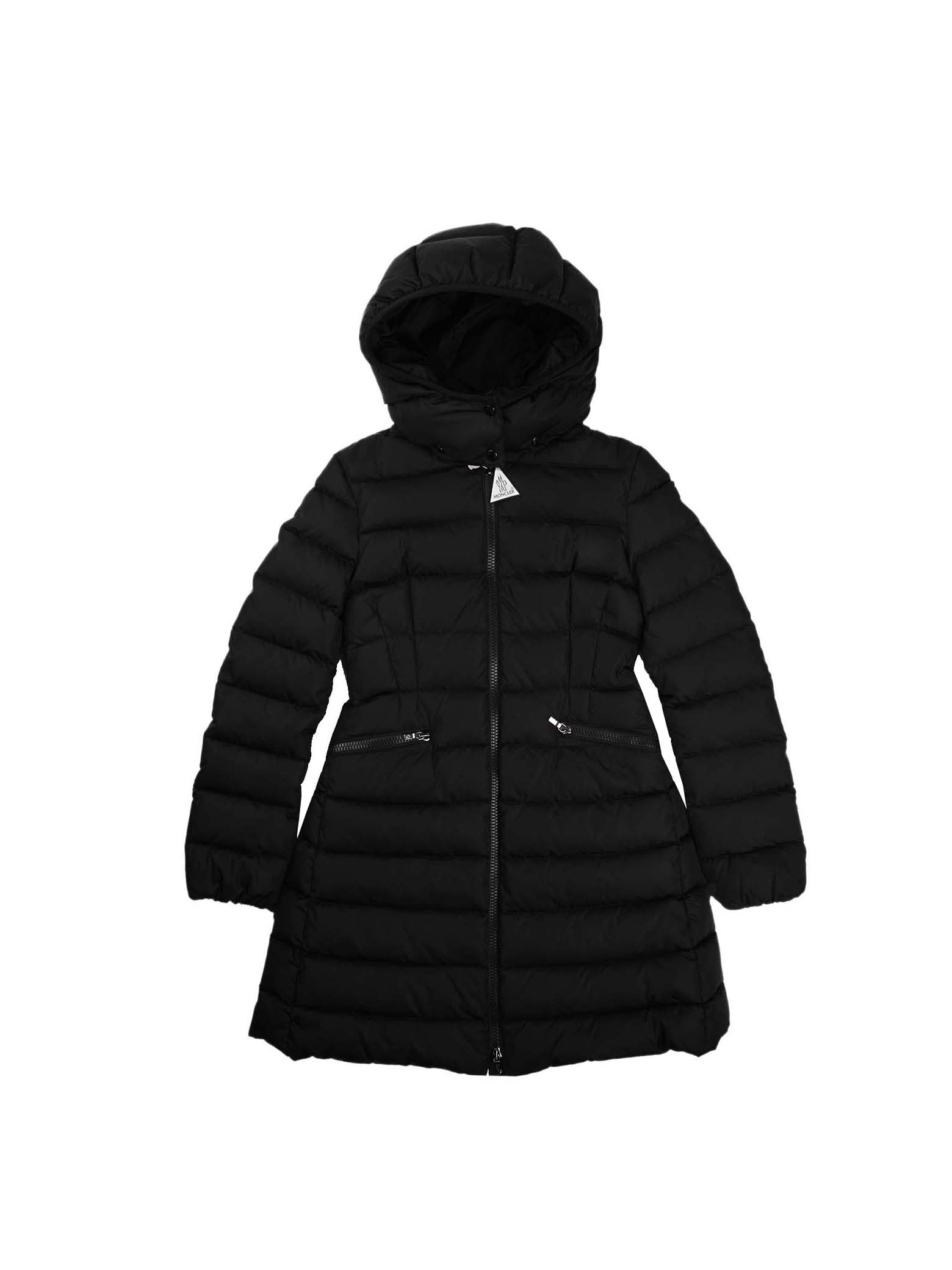 Moncler Charpal Black Long Jacket With Hood