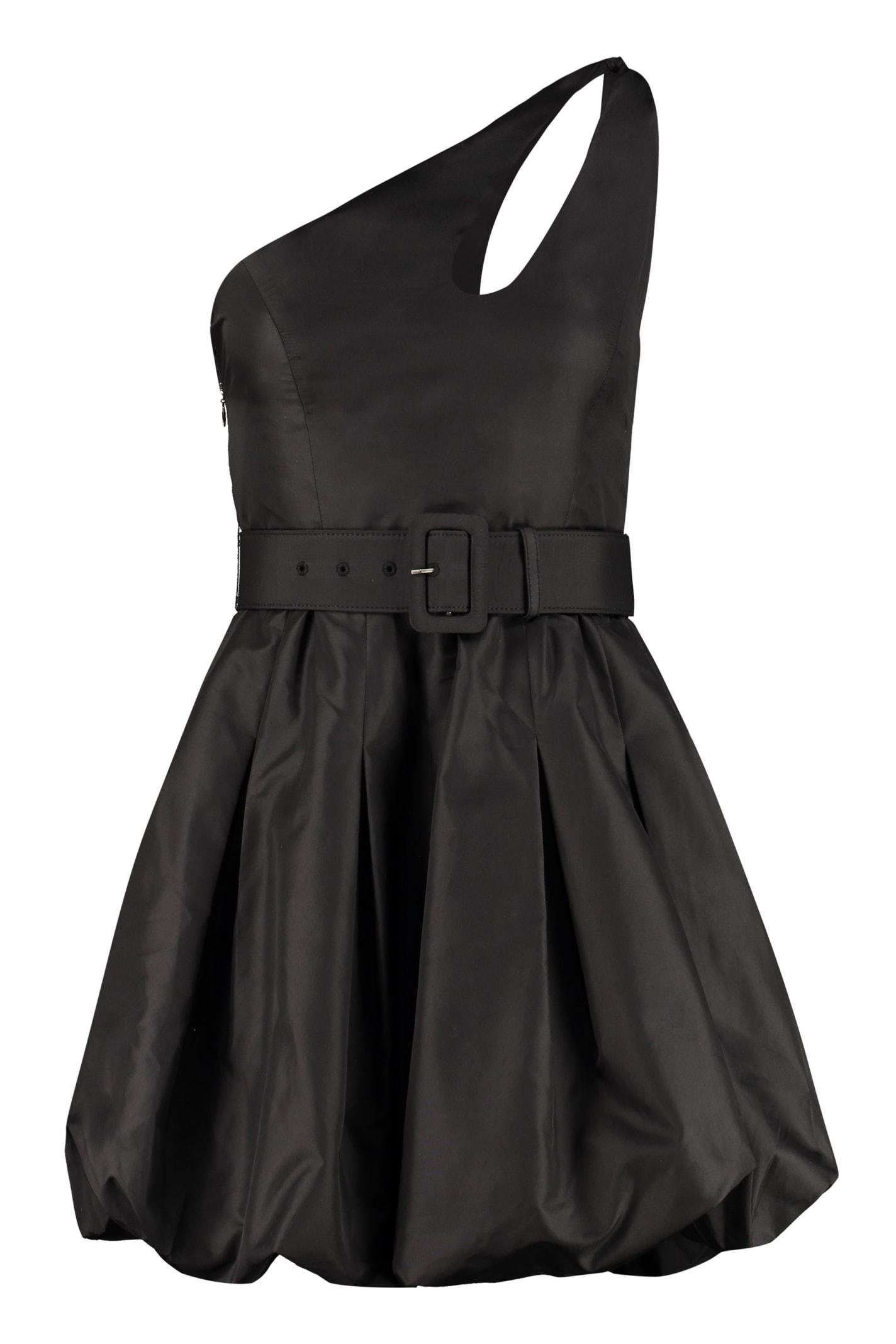 self-portrait Belted One Shoulder Dress