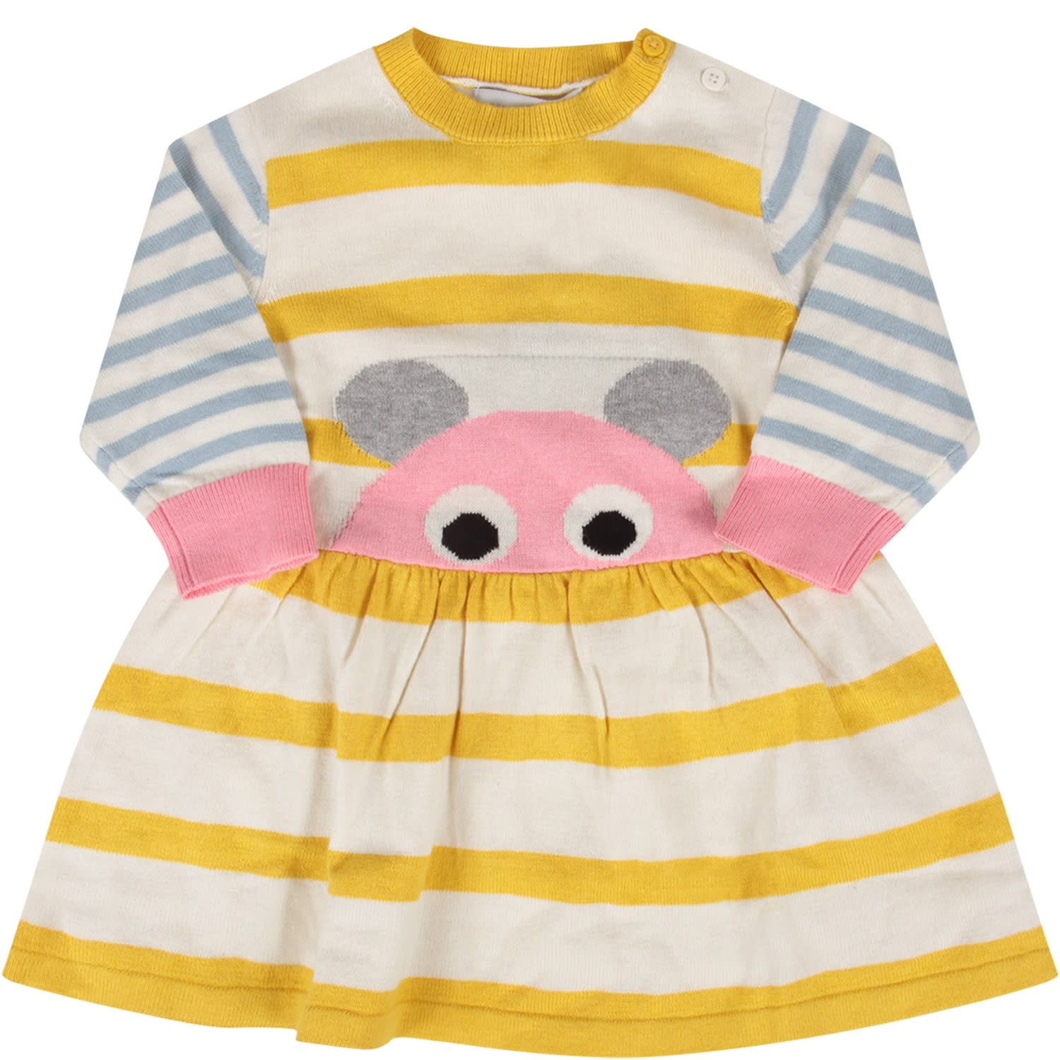 Stella McCartney Kids Striped Babygirl Dress With Mouse