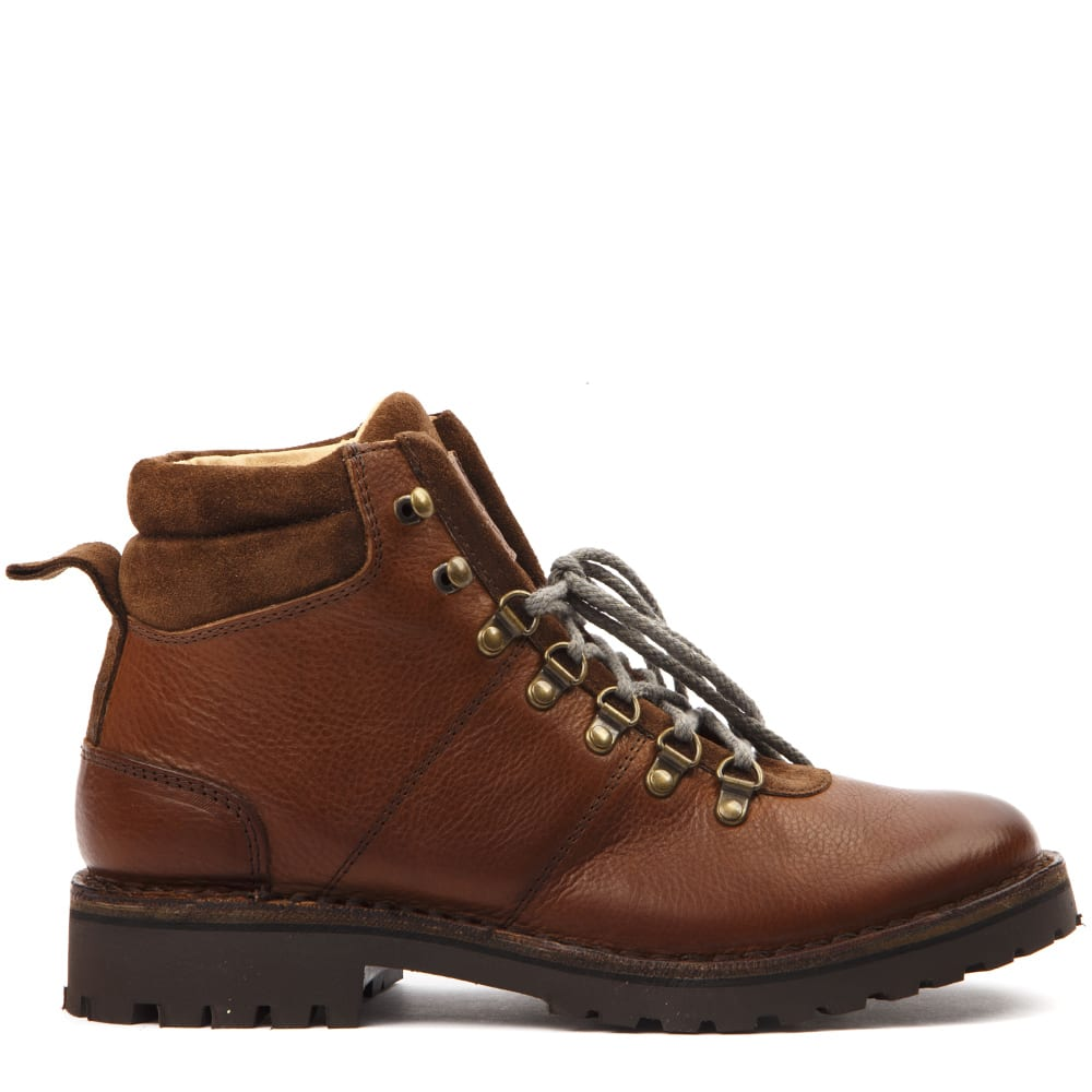 Eleventy Brown Leather Ankle Boots