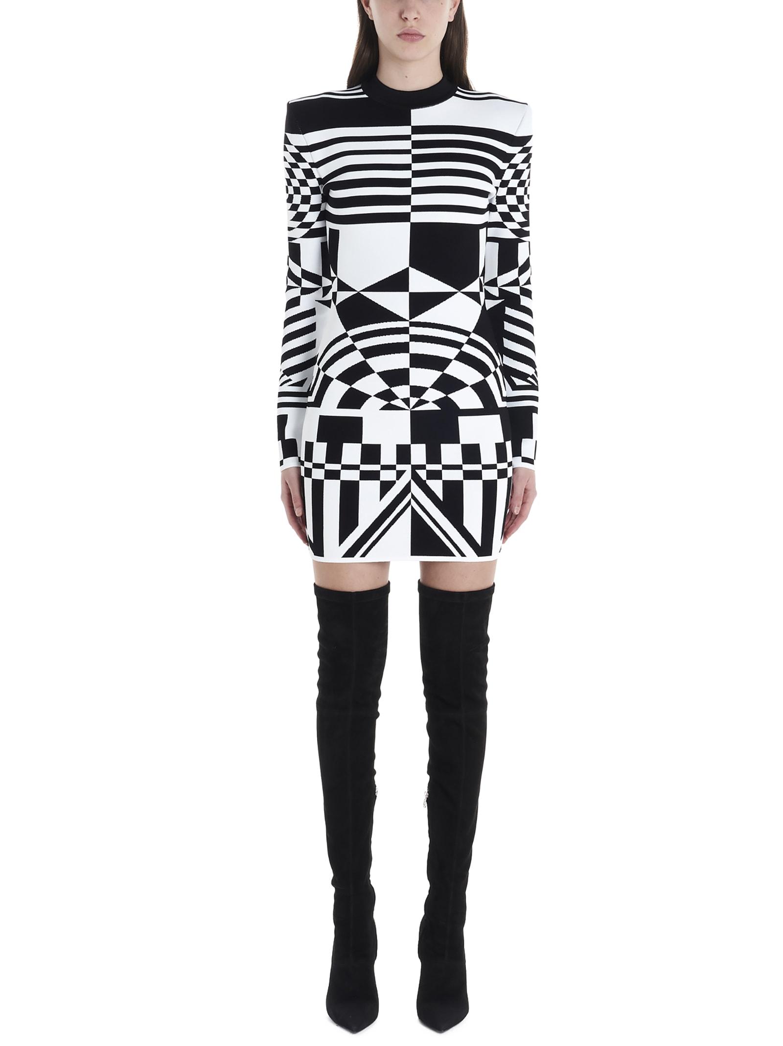 Buy Balmain geometrico Dress online, shop Balmain with free shipping