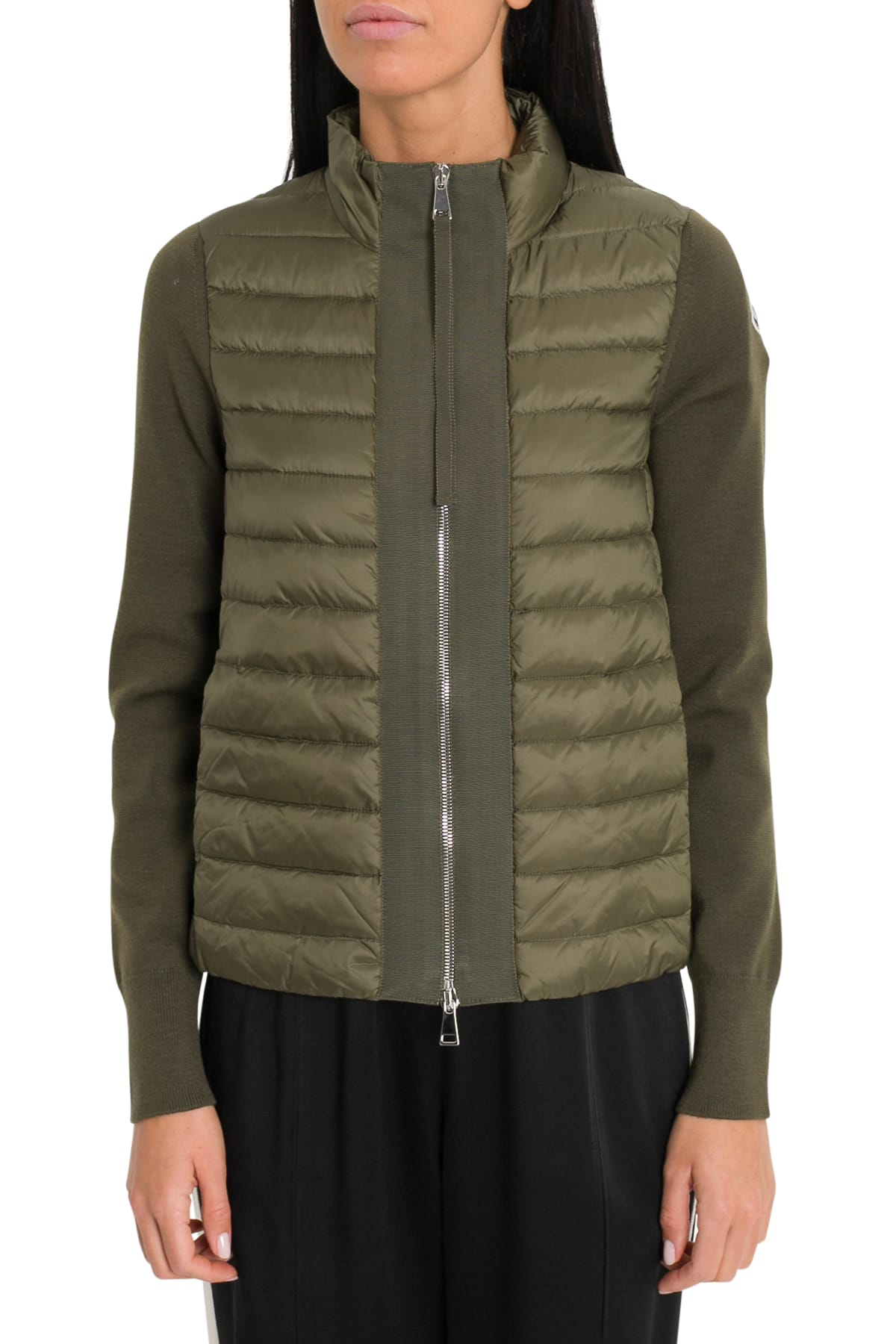 e4c59bd7d Moncler Contrasting-trim Padded Shell And Down-blend Jacket