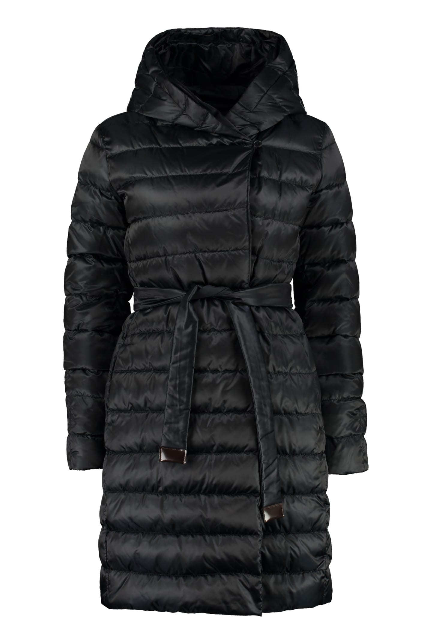 Max Mara Novef Reversible Down Jacket With Double Waist Belt