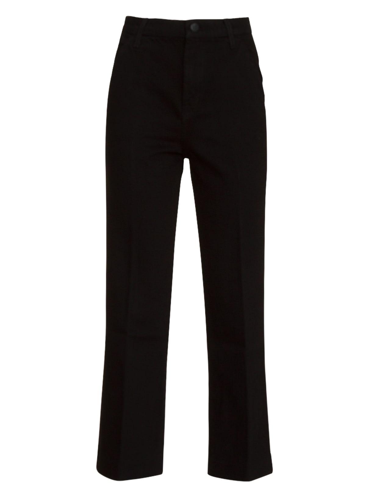 J Brand Joan High-rise Wide-leg Cropped Trouser In Black
