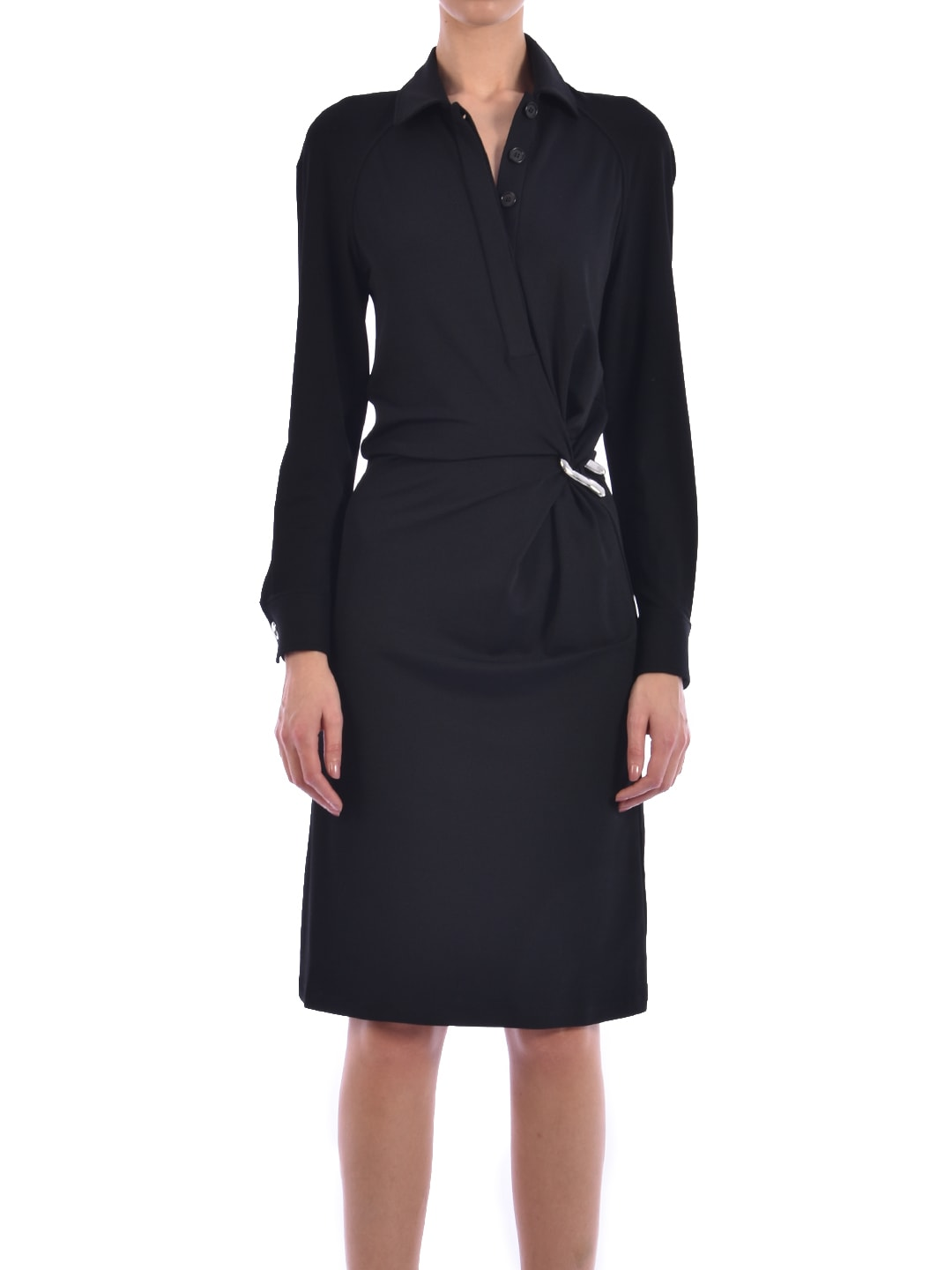 Buy Bottega Veneta Jersey Dress Black online, shop Bottega Veneta with free shipping