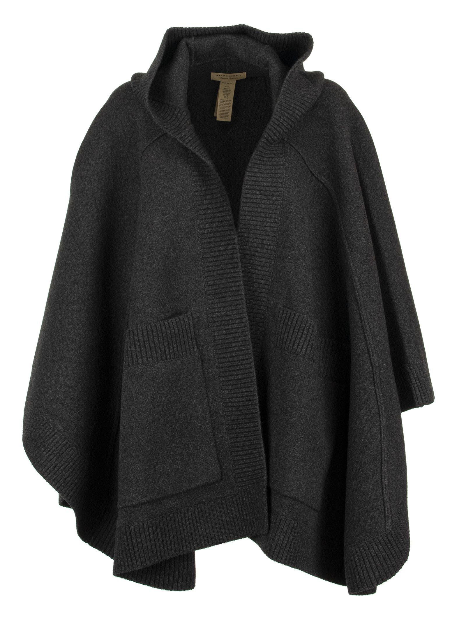 Burberry Jacquard Hooded Cape