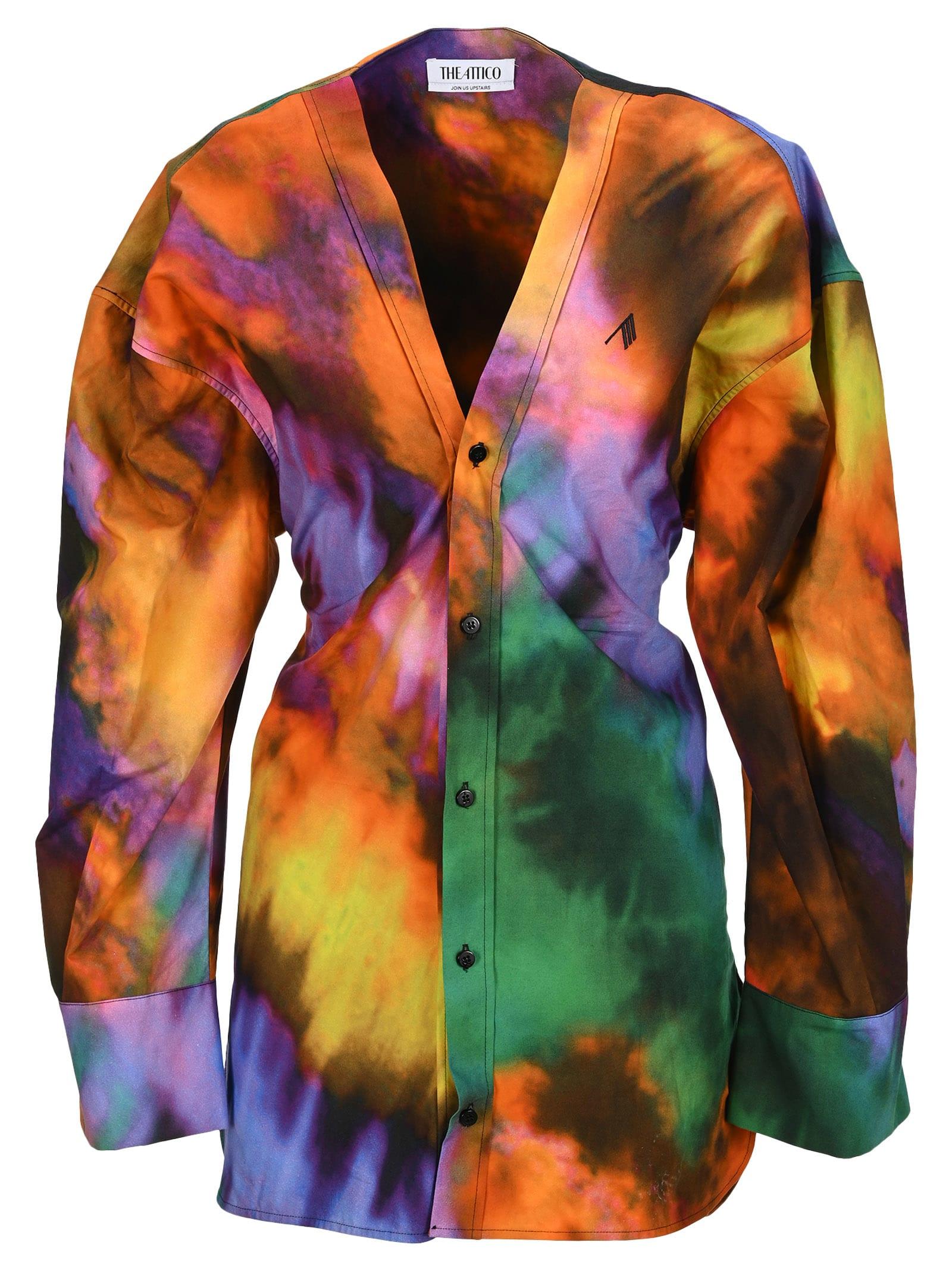 Attico V Neck Lala Chemisier In Multicolor