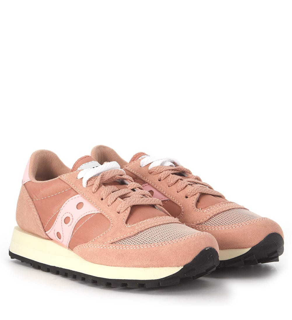 sports shoes 98aa7 45197 Sneaker Saucony Jazz Vintage In Pink Suede And Nylon