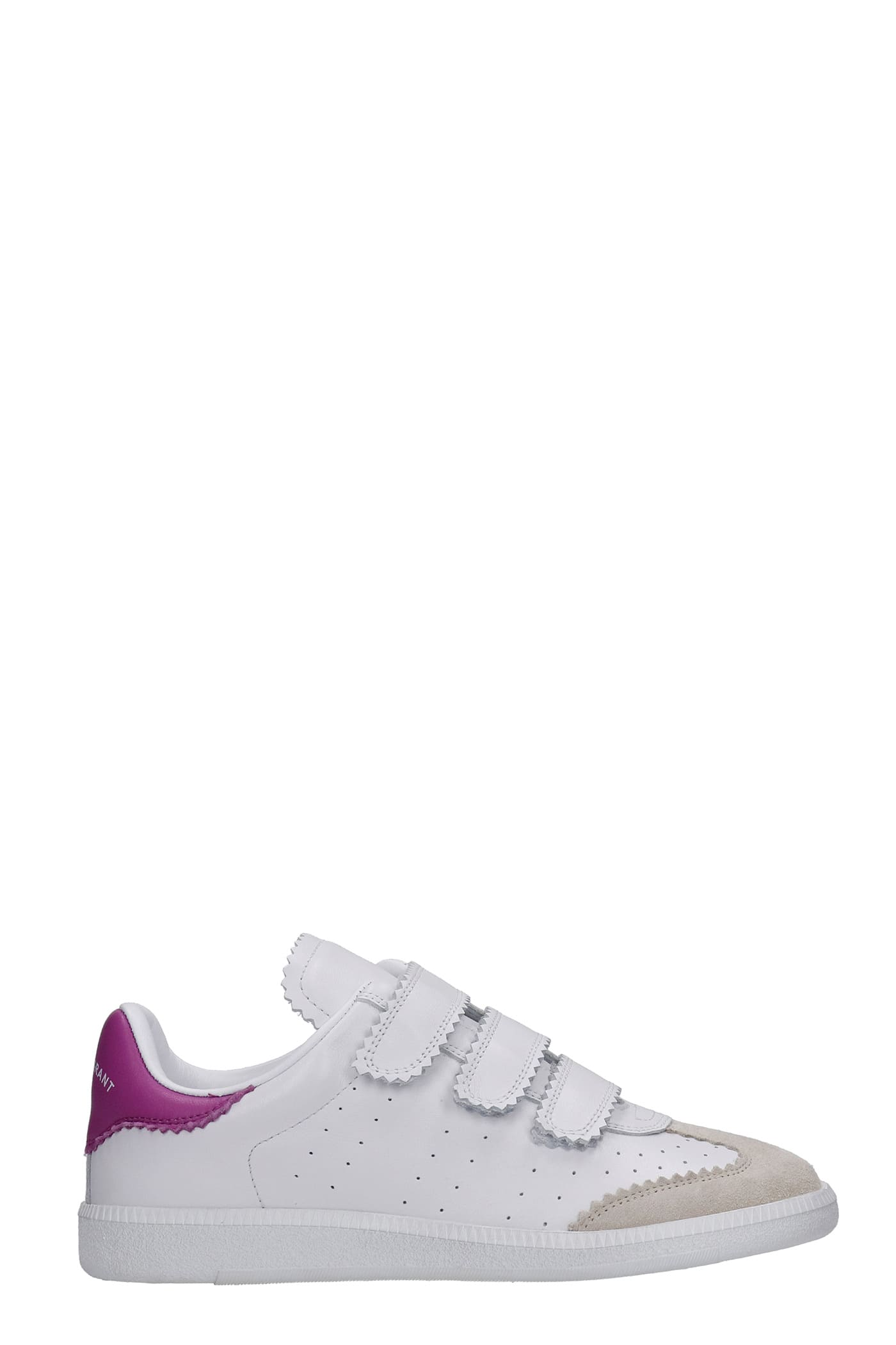 Isabel Marant Beth Sneakers In White Suede And Leather