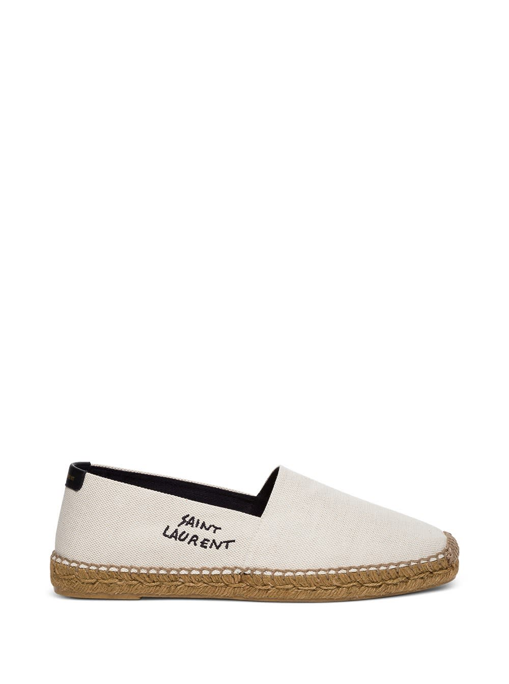 Canvas Espadrilles With Embroidery Logo