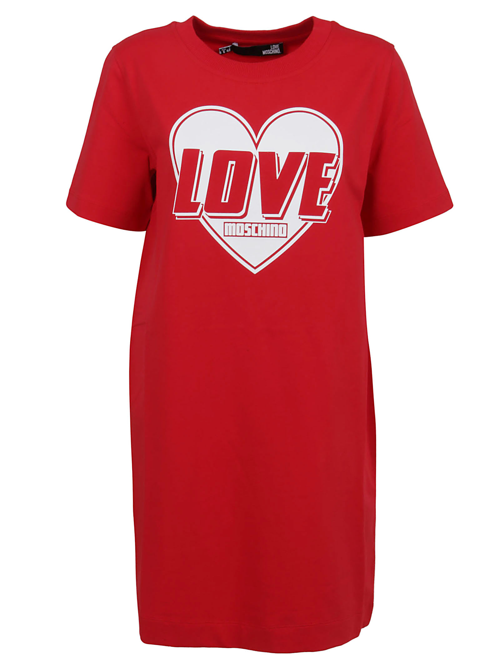 Buy Red Cotton Dress online, shop Love Moschino with free shipping