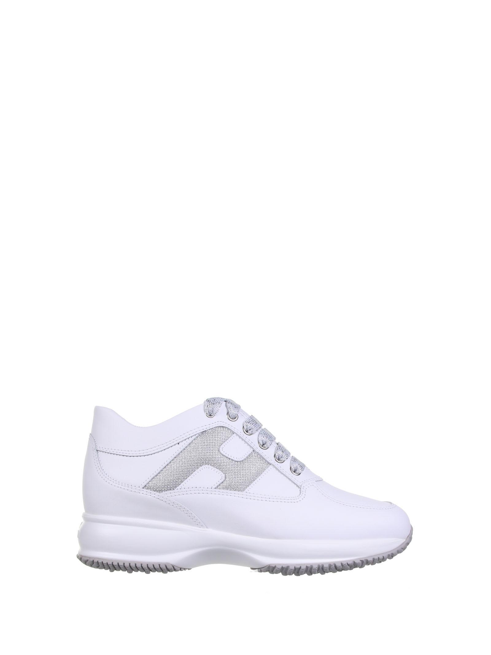 Shop Hogan Interactive Sneaker In Bianco Argento